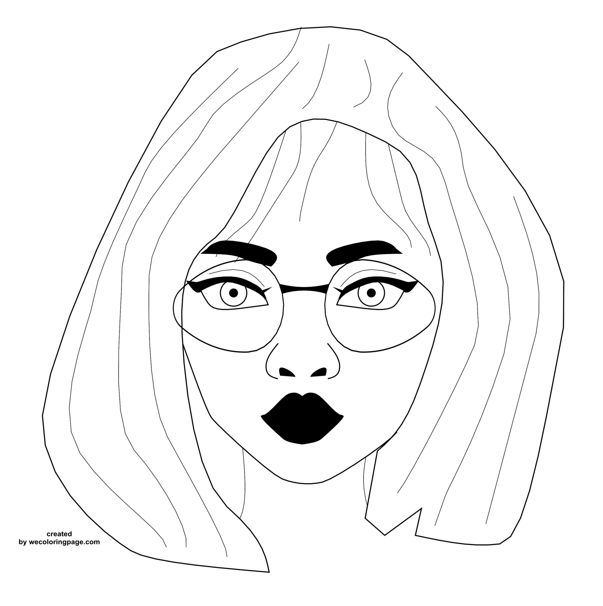 Style Good Face Girl Beauty Coloring Page