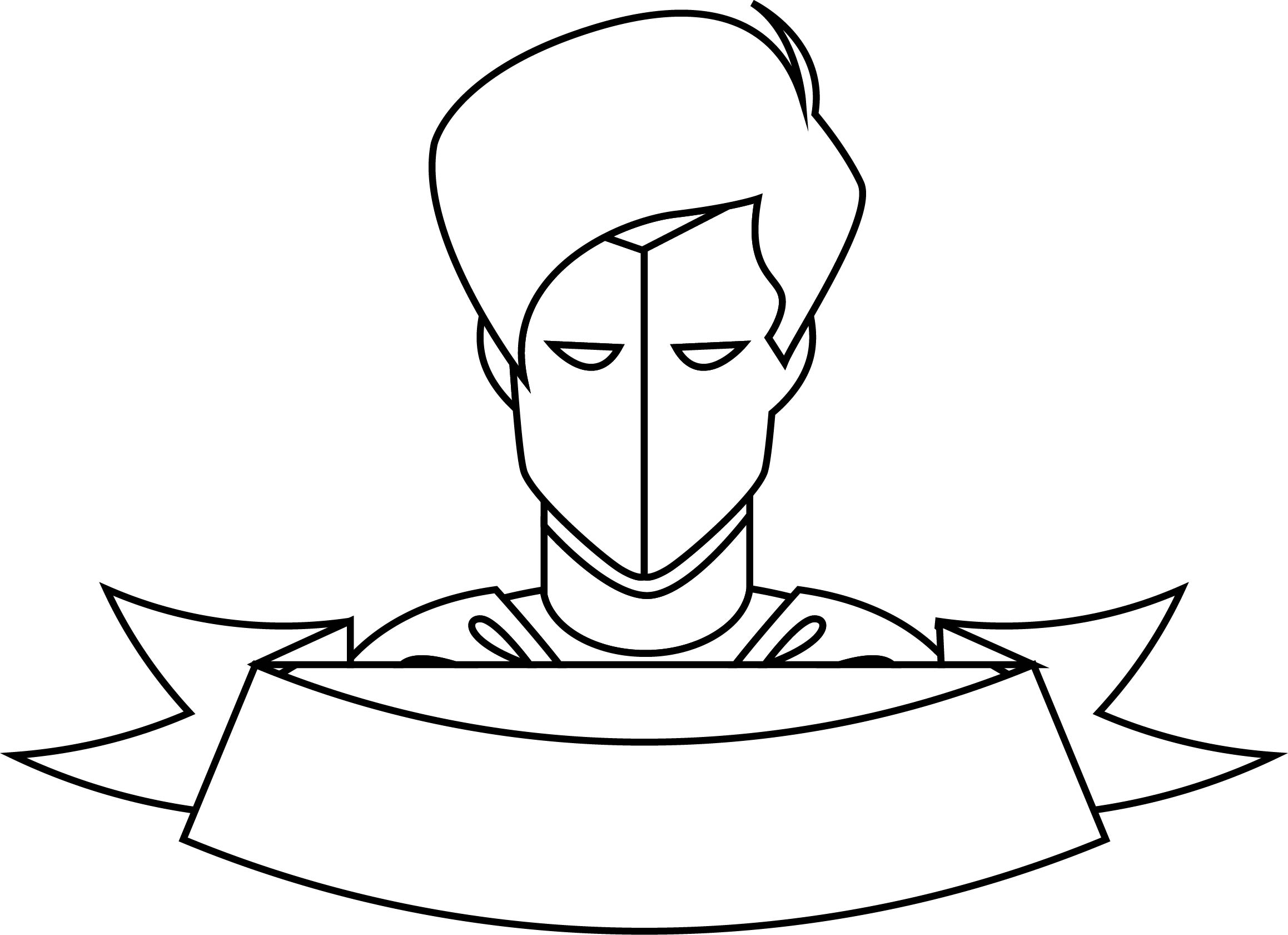 Super Hero Coloring Page Face 01