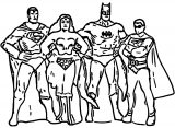 Superheroes Super Hero Coloring Page 095