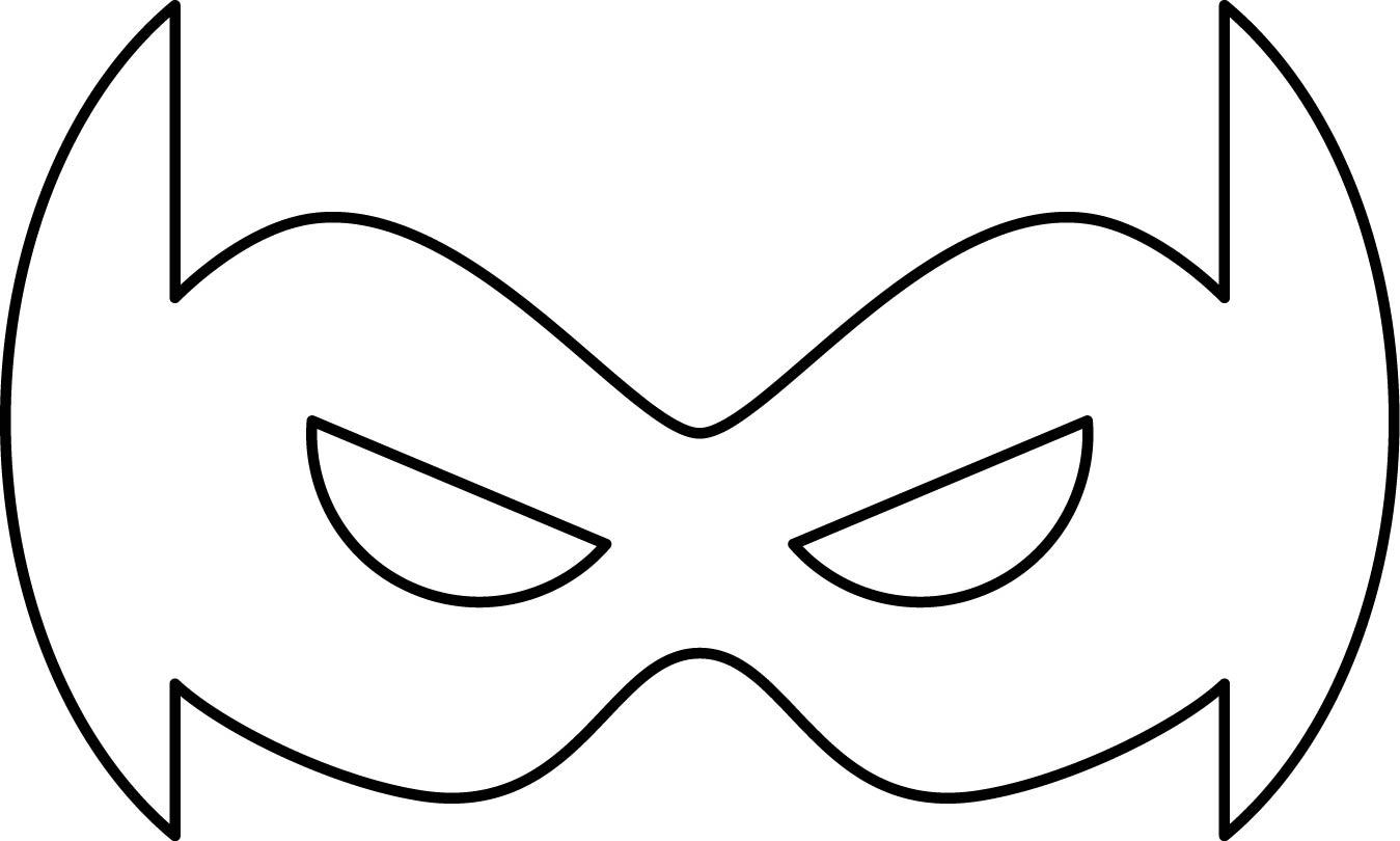 Superheroes Super Hero Mask Coloring Page 01