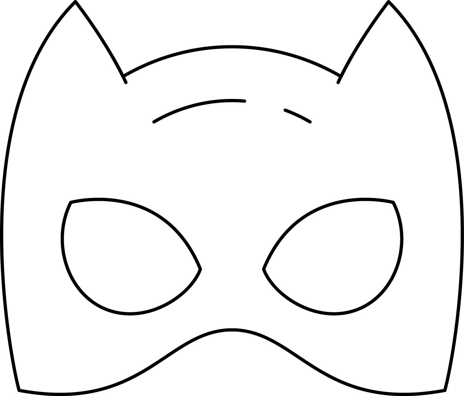 Superheroes Super Hero Mask Coloring Page 10 Batwoman