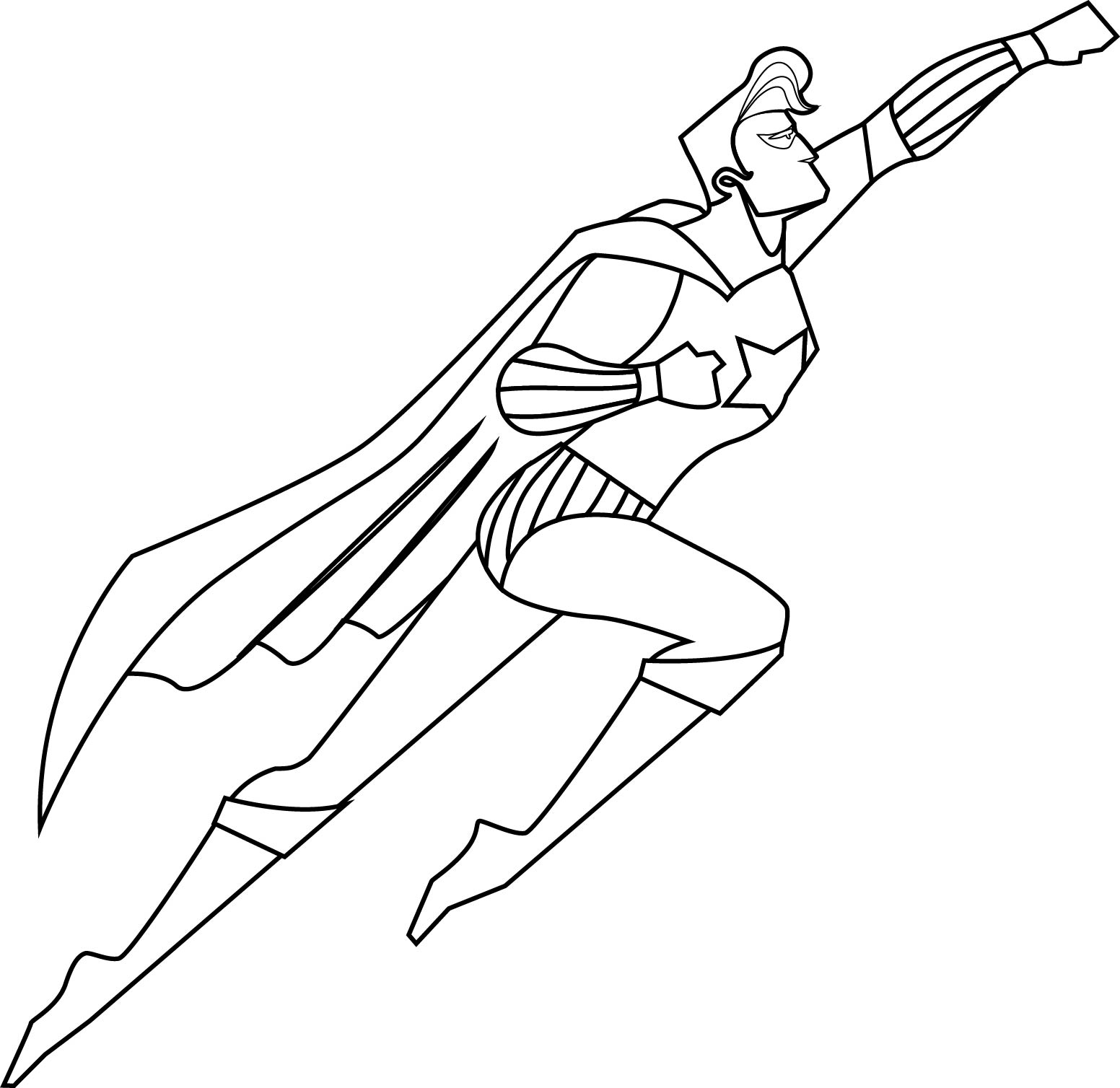 Superman Superheroes Coloring Page