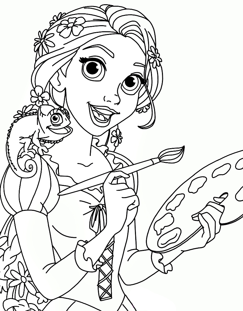 Tangled Coloring Page 13