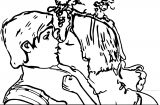 Tangled Rapunzel And Flynn Kiss Coloring Page
