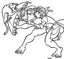 Tarzan And Jane Battle Coloring Pages