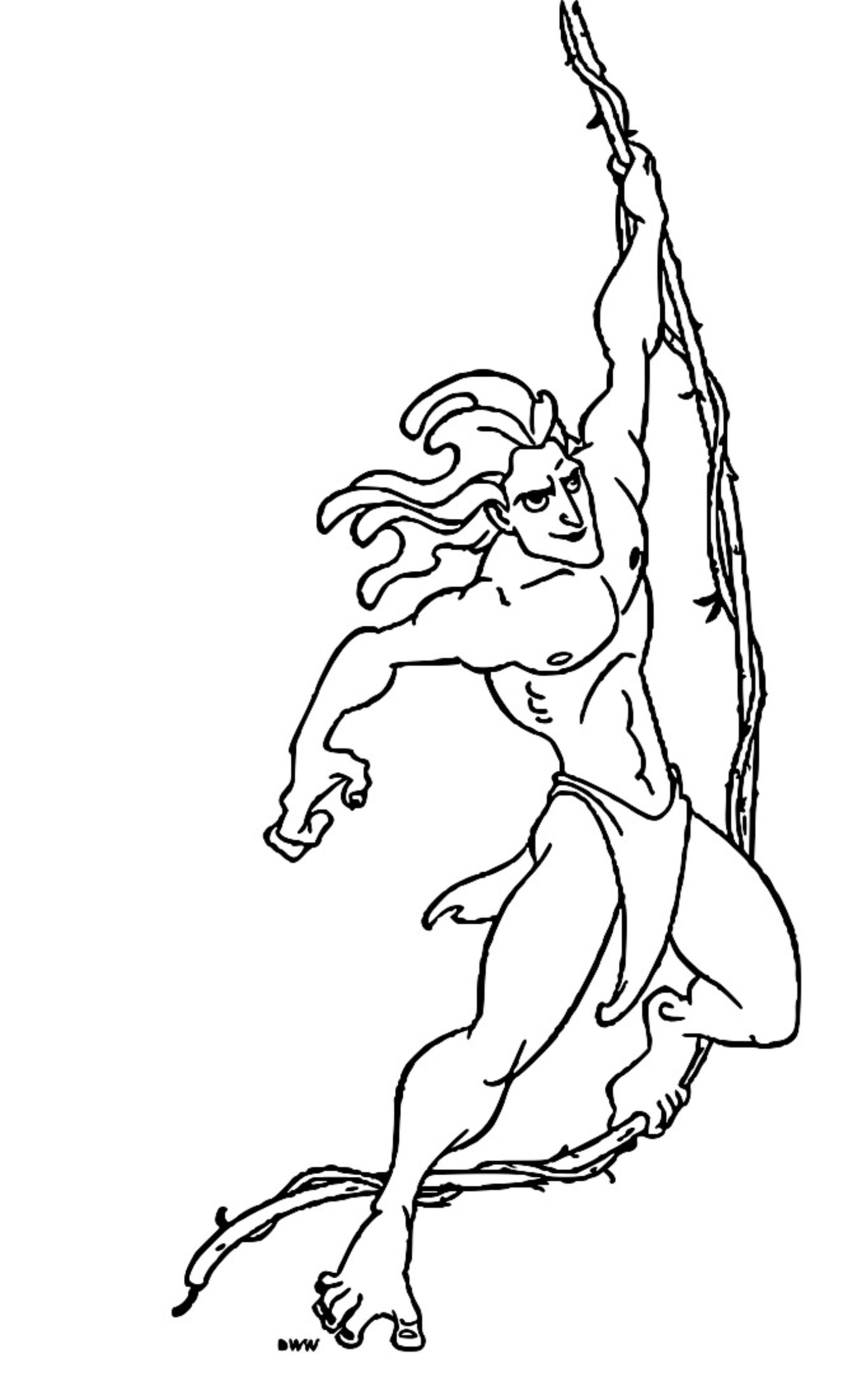 Tarzan Coloring Page 1