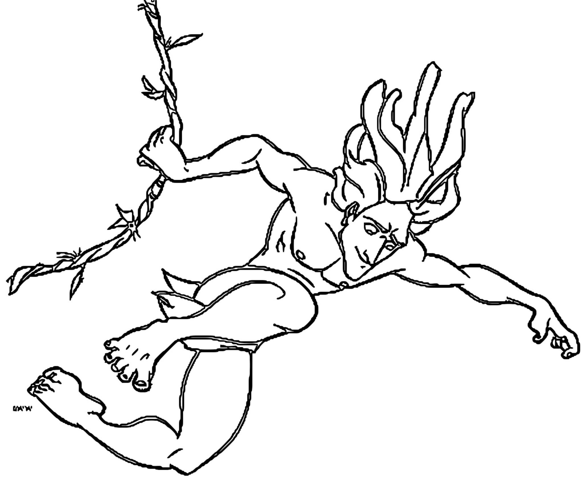 Tarzan Coloring Page 3