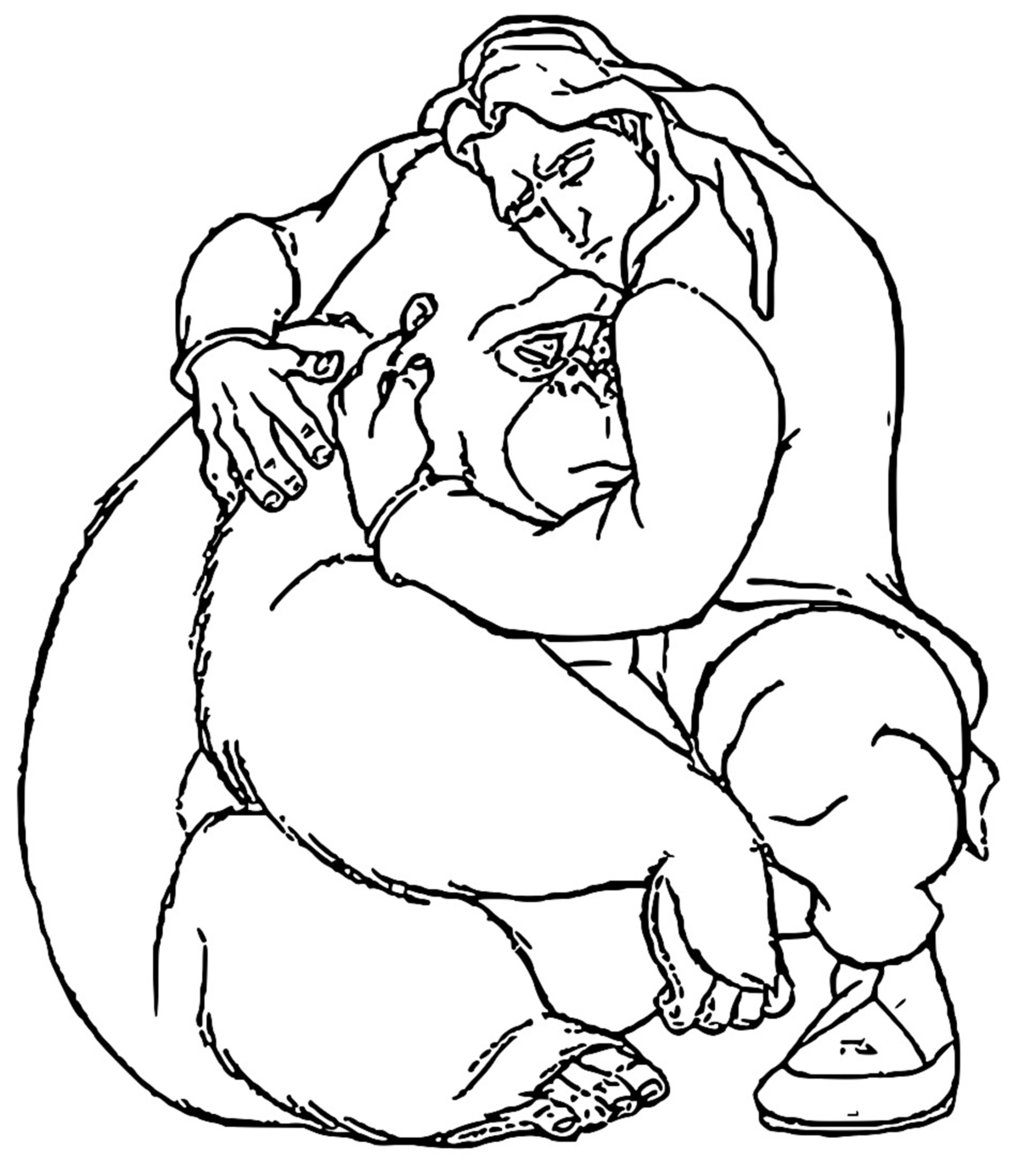 Tarzan Kala And Kerchak Coloring Pages 08
