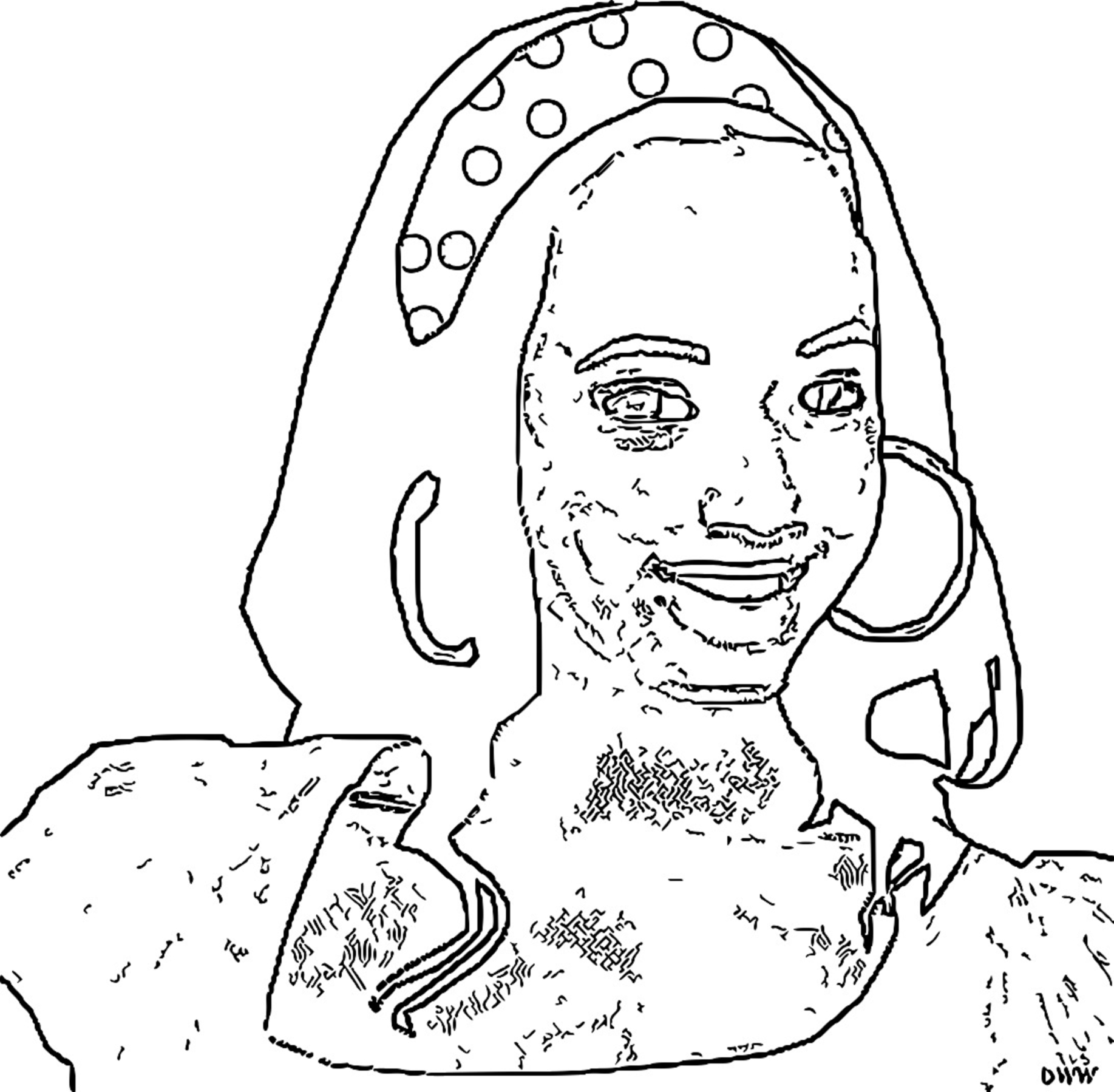 Taylor McKessie Coloring Pages_Cartoonized