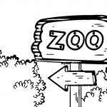 Teacher English Zoo Sign Coloring Page