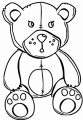 Teddy Bear Animal Coloring Page