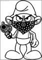 Temp Image Gangsta Smurf Free Printable Coloring Page
