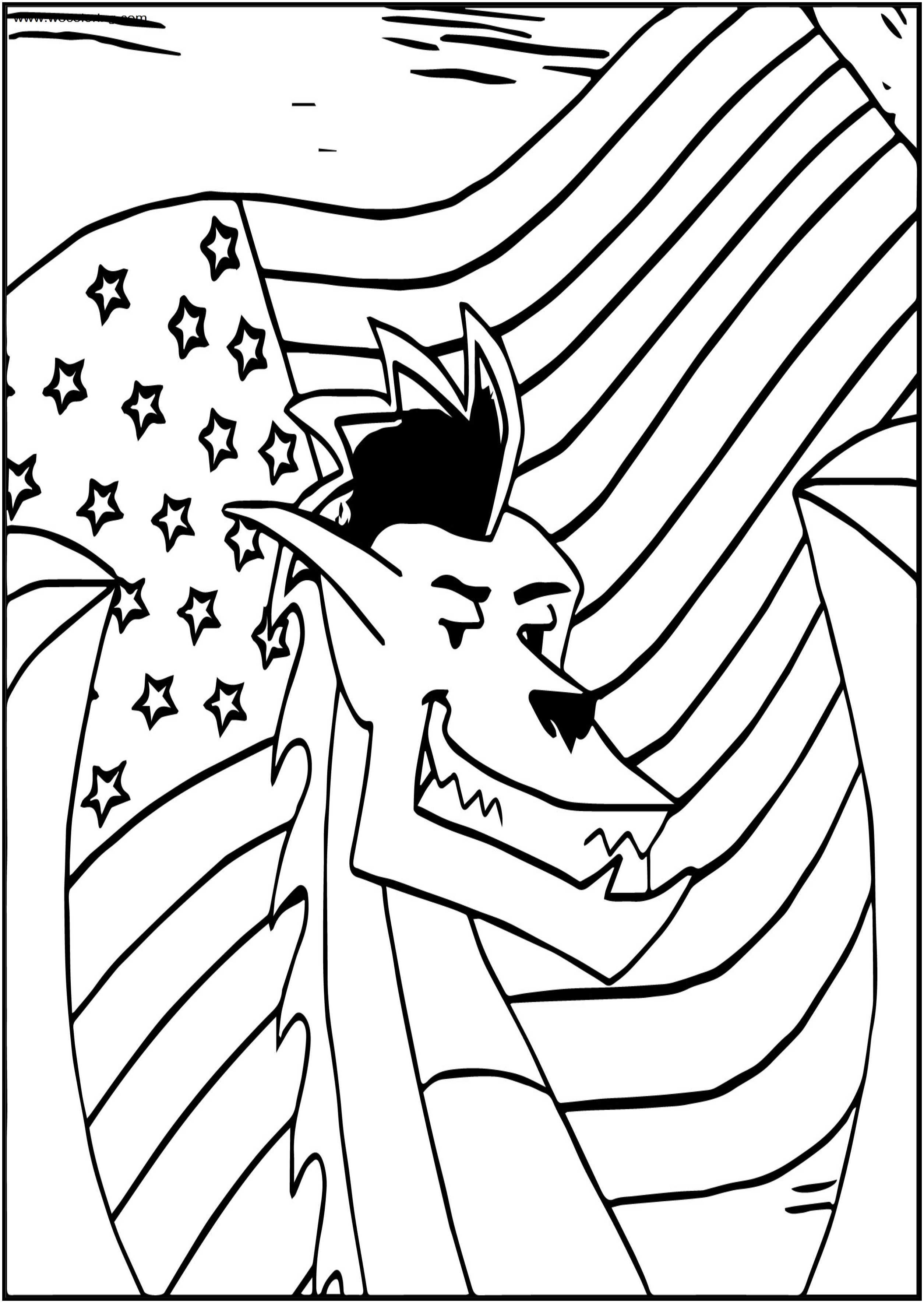 The American Dragon Poke Yoshi Free A4 Printable Coloring Page