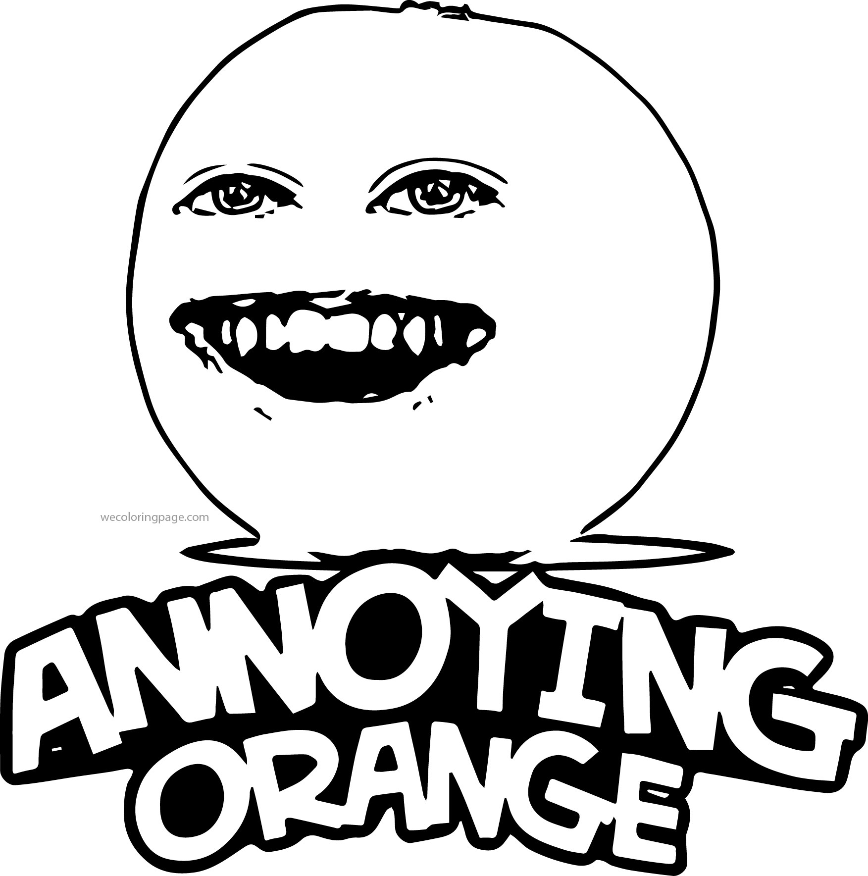 The Annoying Orange Coloring Page 11
