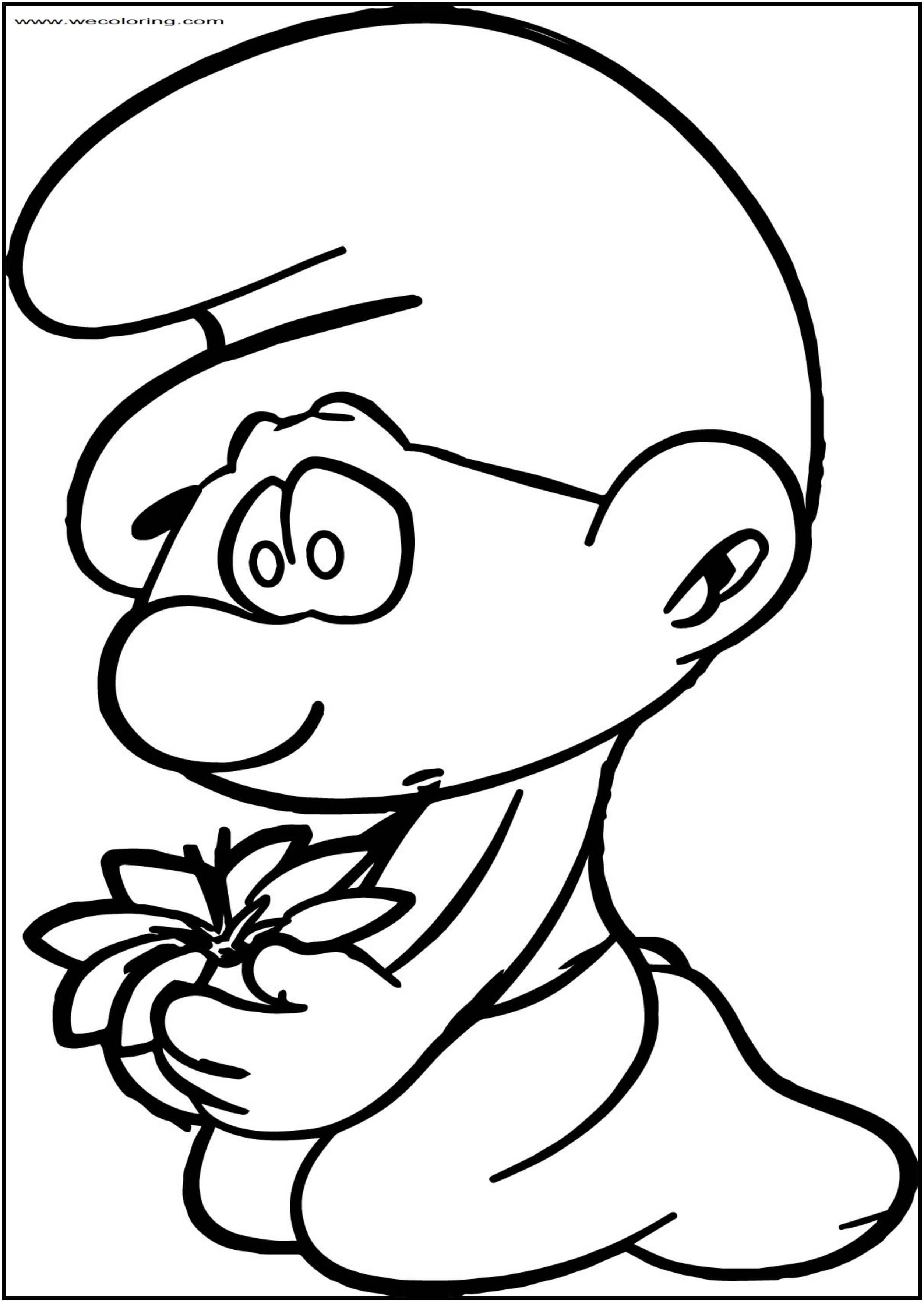 The Beauty I Cant See Smurf Free Printable Coloring Page