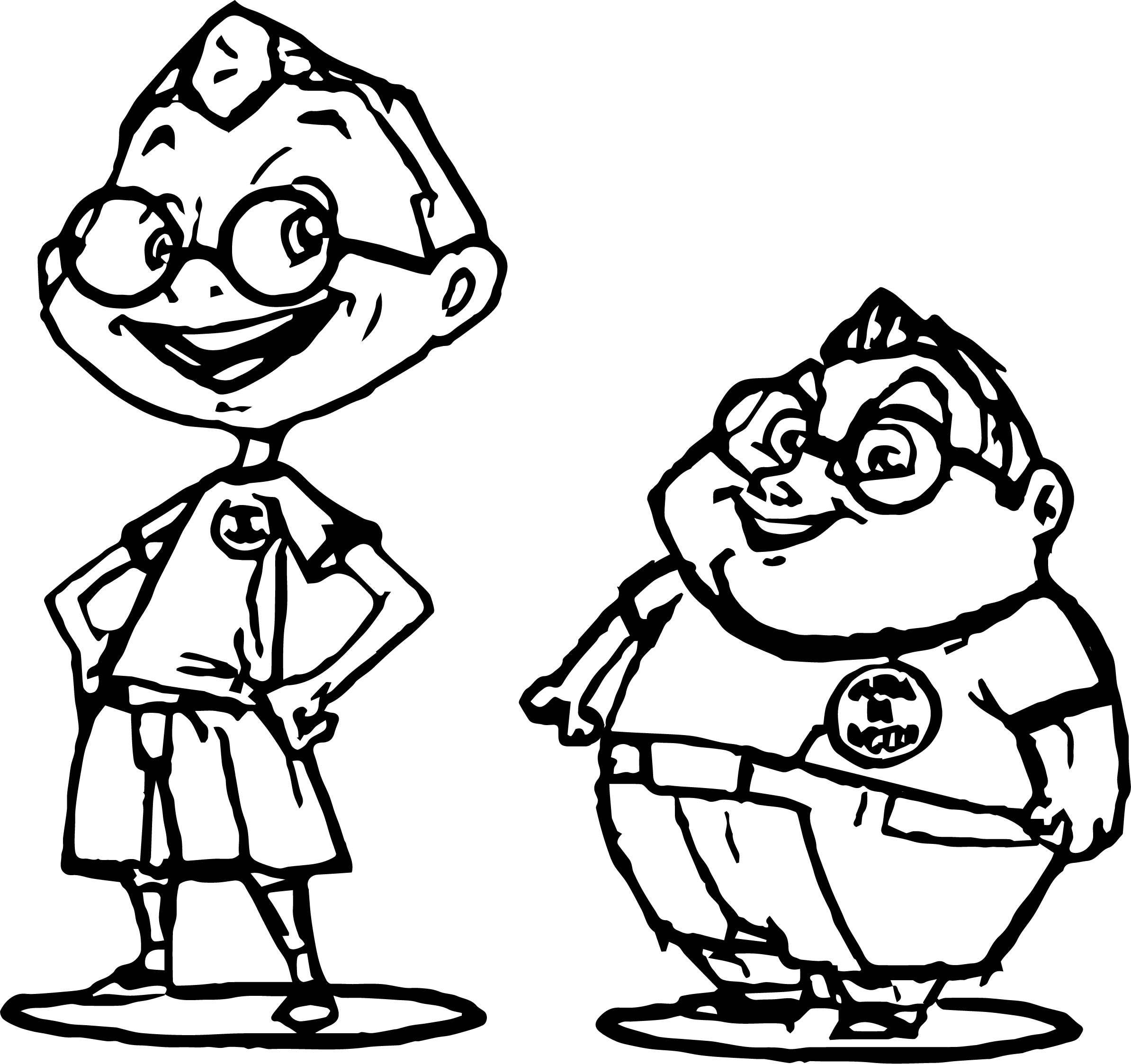 The Fat And The Nerdcharacter Coloring Page