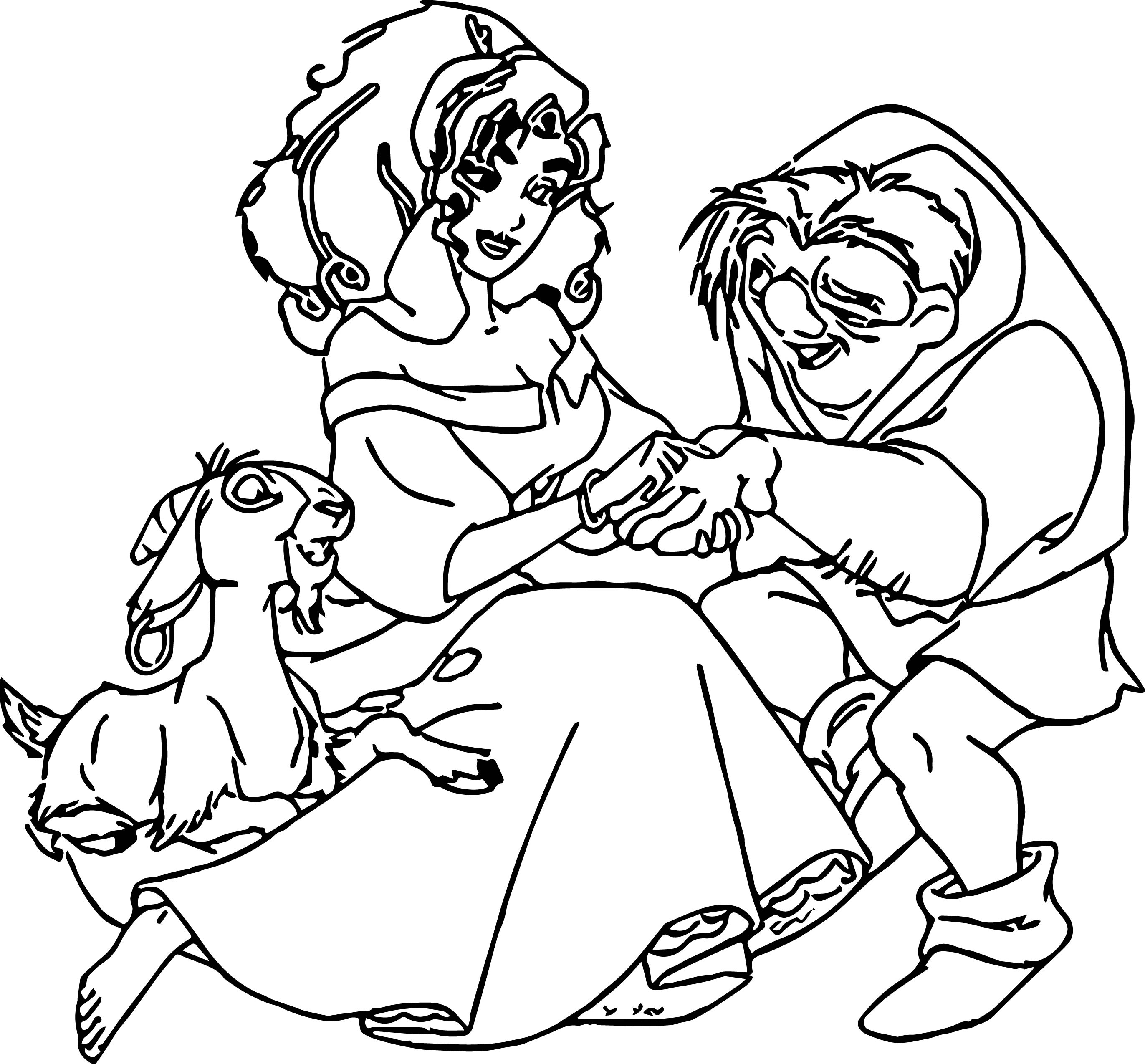 The Hunchback Of Notre Dame Esmq Cartoon Coloring Pages