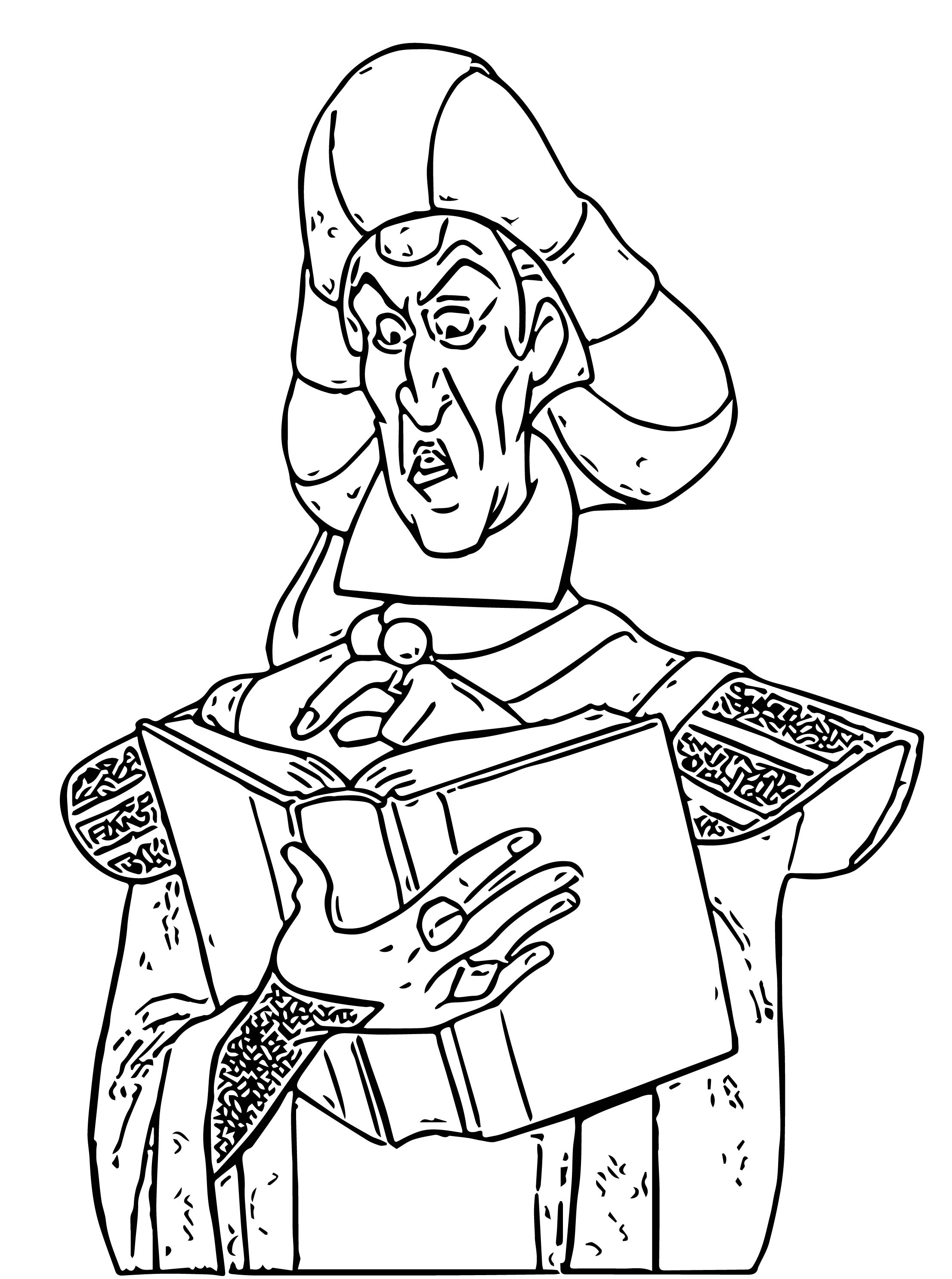 The Hunchback Of Notre Dame Frollo Cartoon Coloring Pages