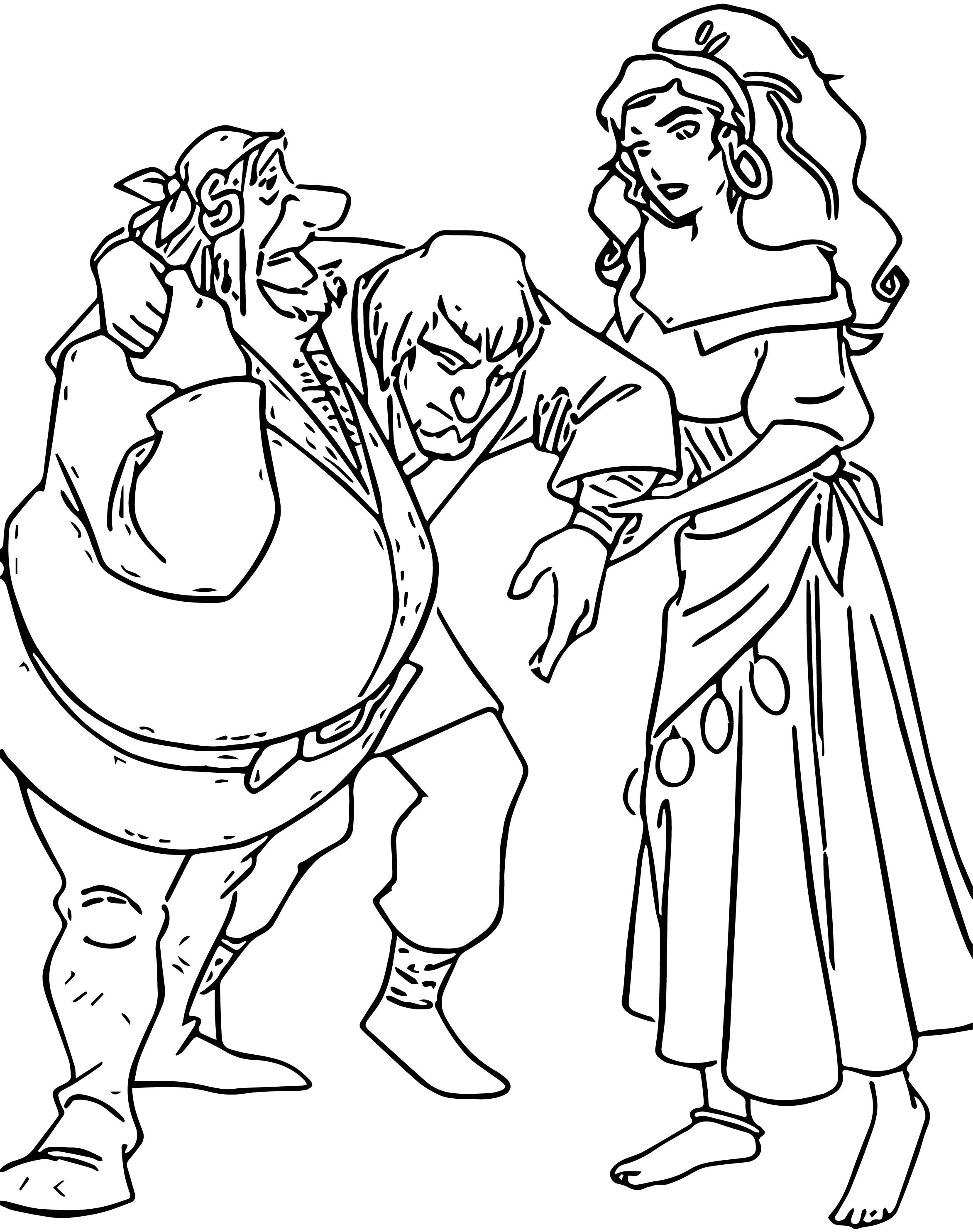 The Hunchback Of Notre Dame Gypsies Cartoon Coloring Pages