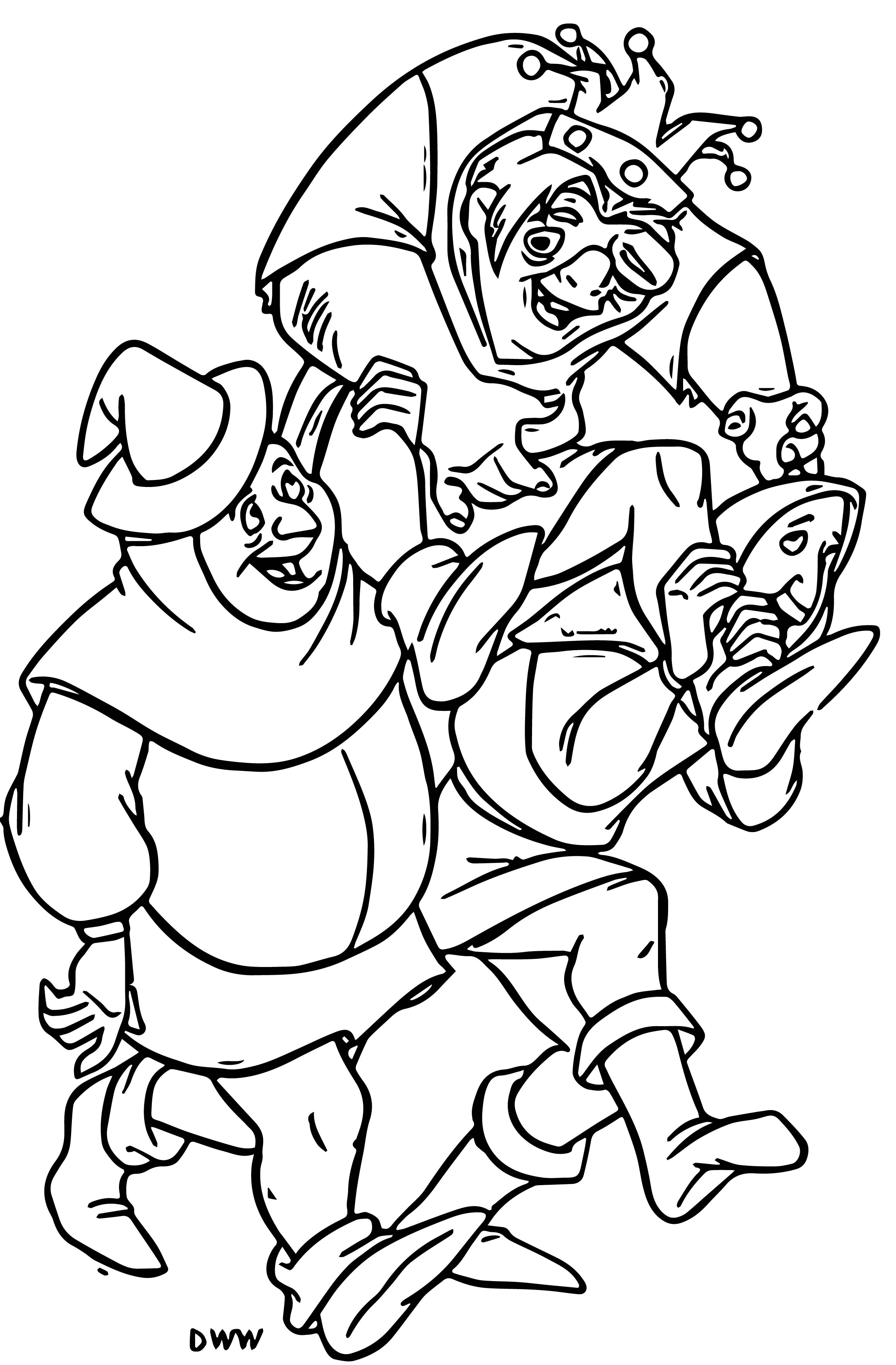 The Hunchback Of Notre Dame Hfr2 Cartoon Coloring Pages