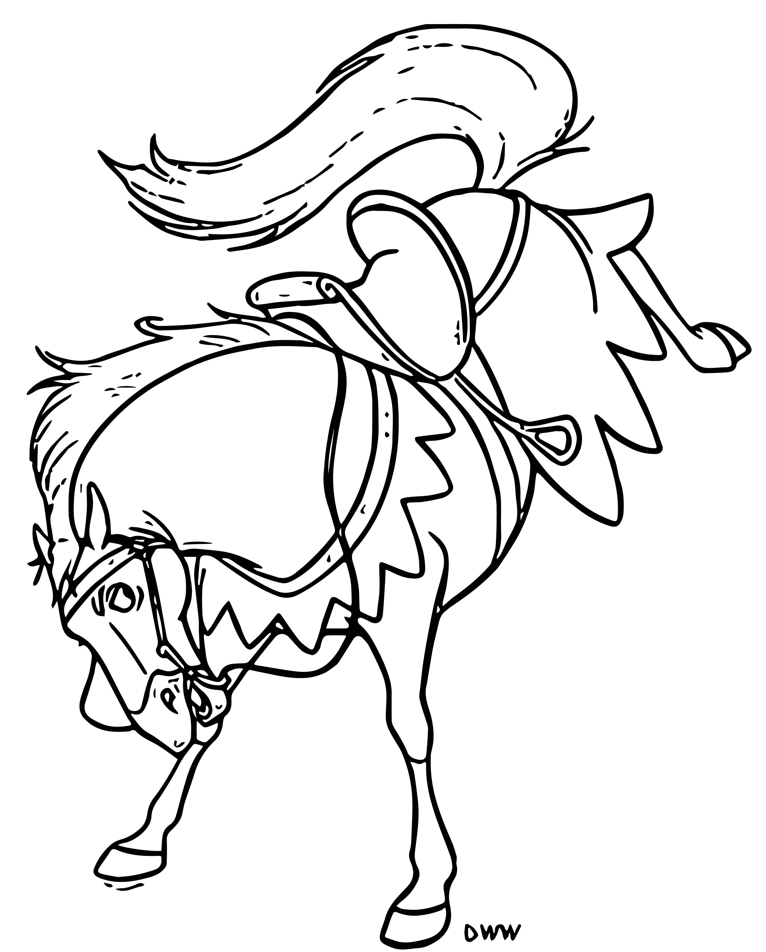 The Hunchback Of Notre Dame Hhorse Cartoon Coloring Pages