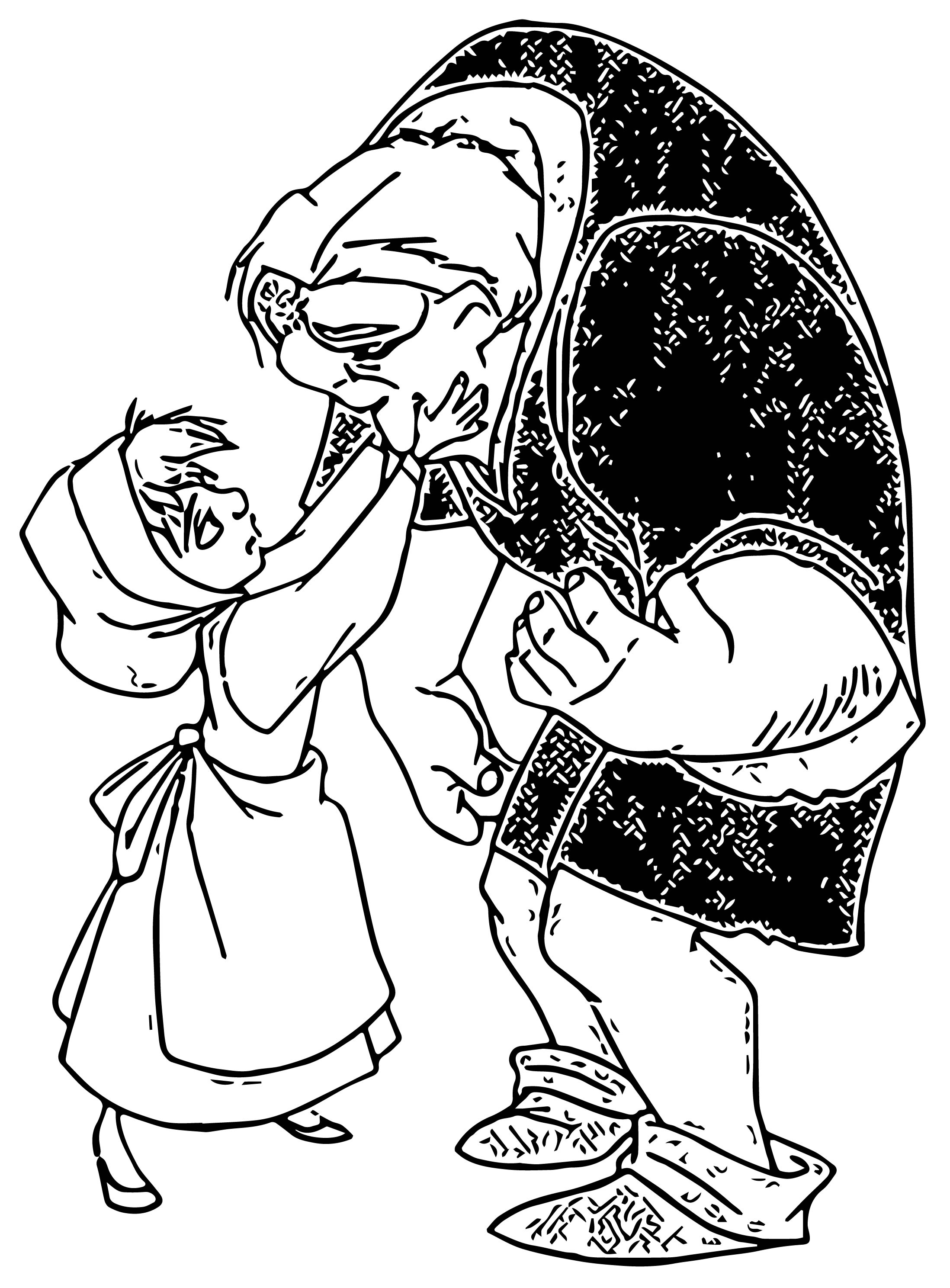 The Hunchback Of Notre Dame Quasi 5 Cartoon Coloring Pages