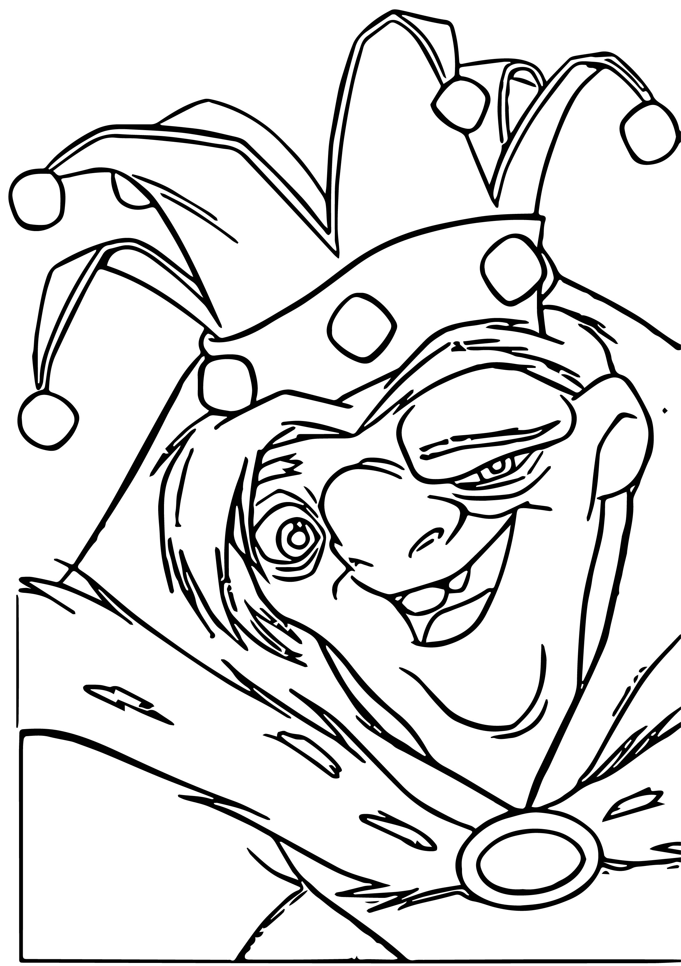 The Hunchback Of Notre Dame Quasi 6 Cartoon Coloring Pages