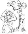 The Hunchback Of Notre Dame Quasi Clopin Cartoon Coloring Pages