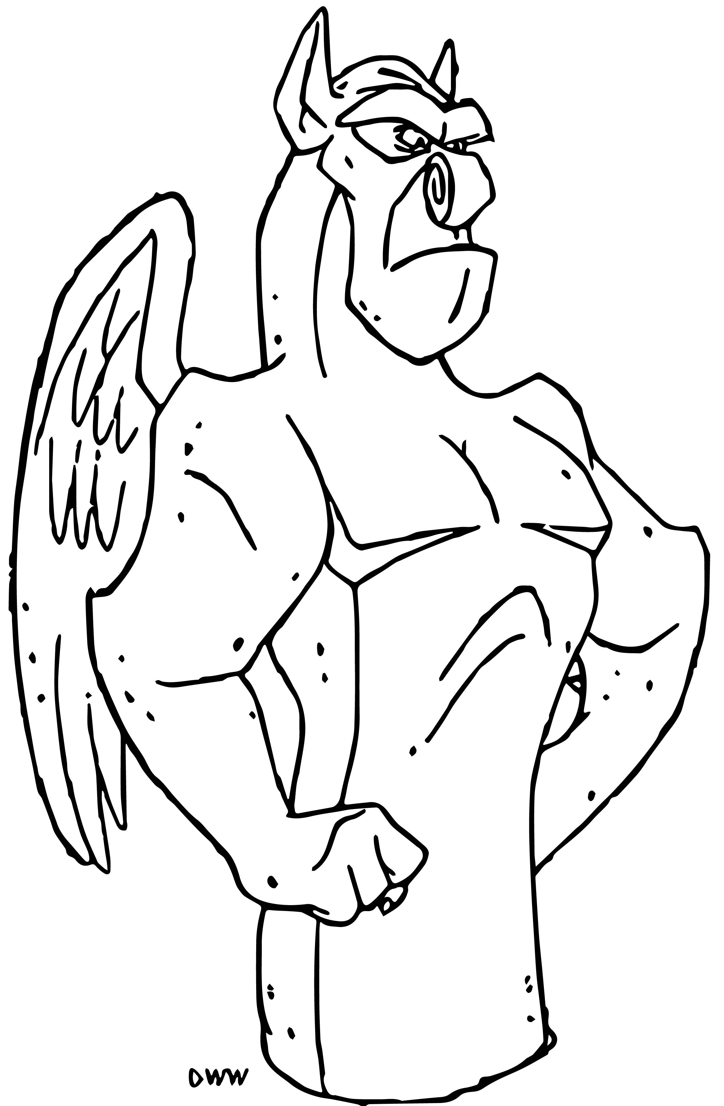 The Hunchback Of Notre Dame Vic Cartoon Coloring Pages