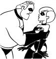 The Incredibles Coloring Page 01