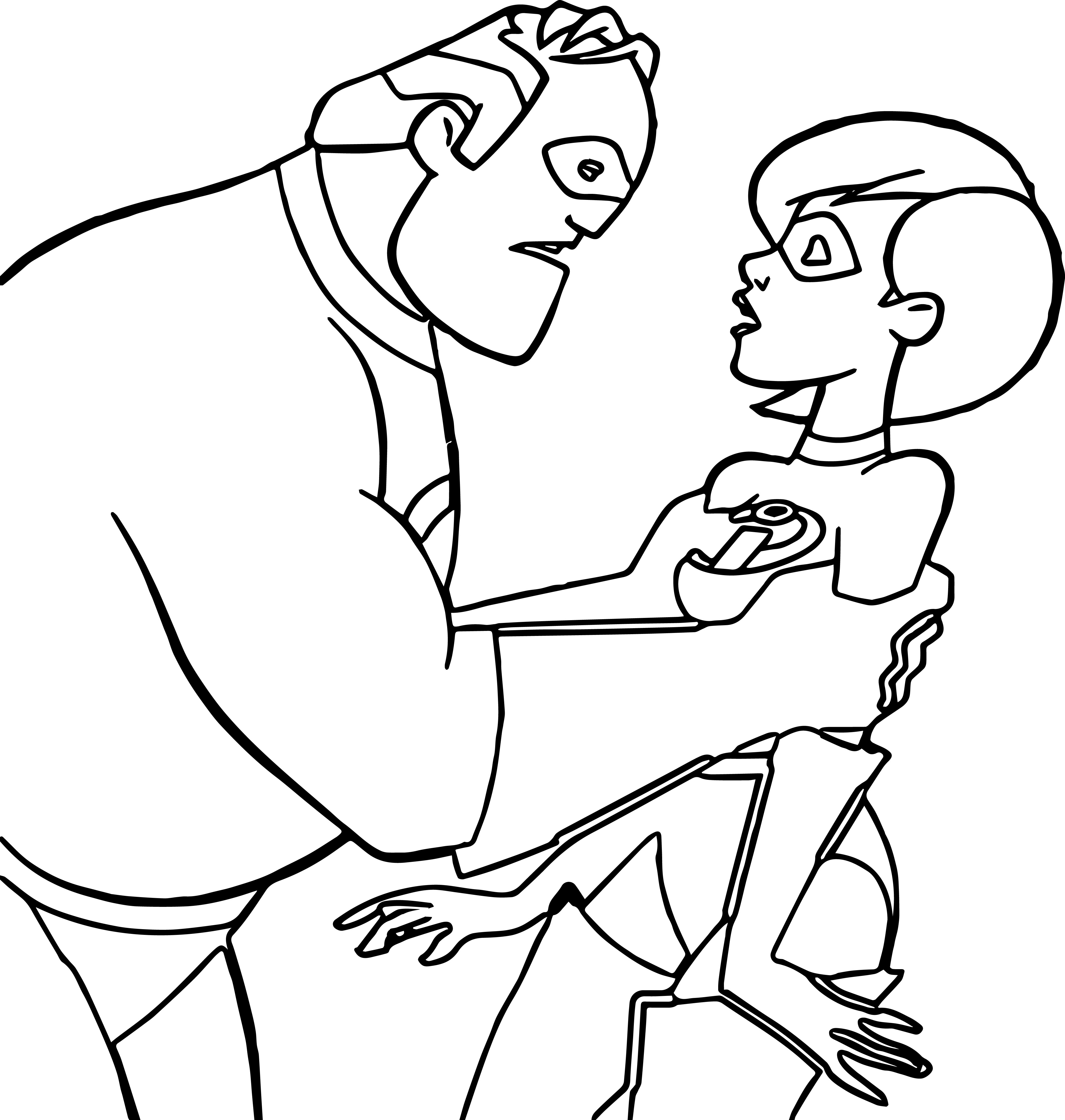 The Incredibles Coloring Pages 01