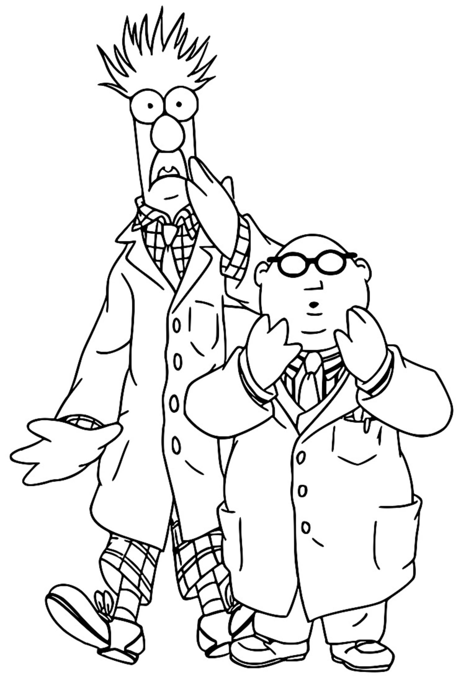 The Muppets beaker bunsen honeydew Cartoon Coloring Page