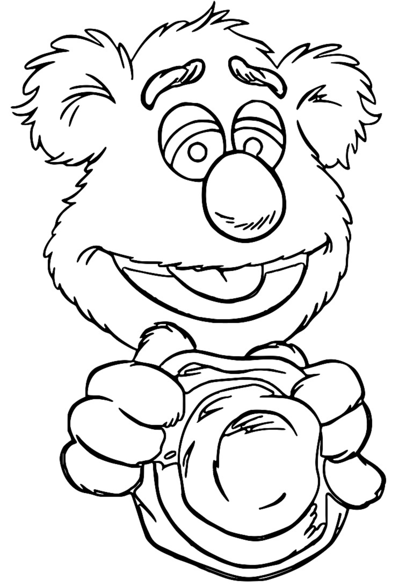 The Muppets fozzie bear 3 Cartoon Coloring Page