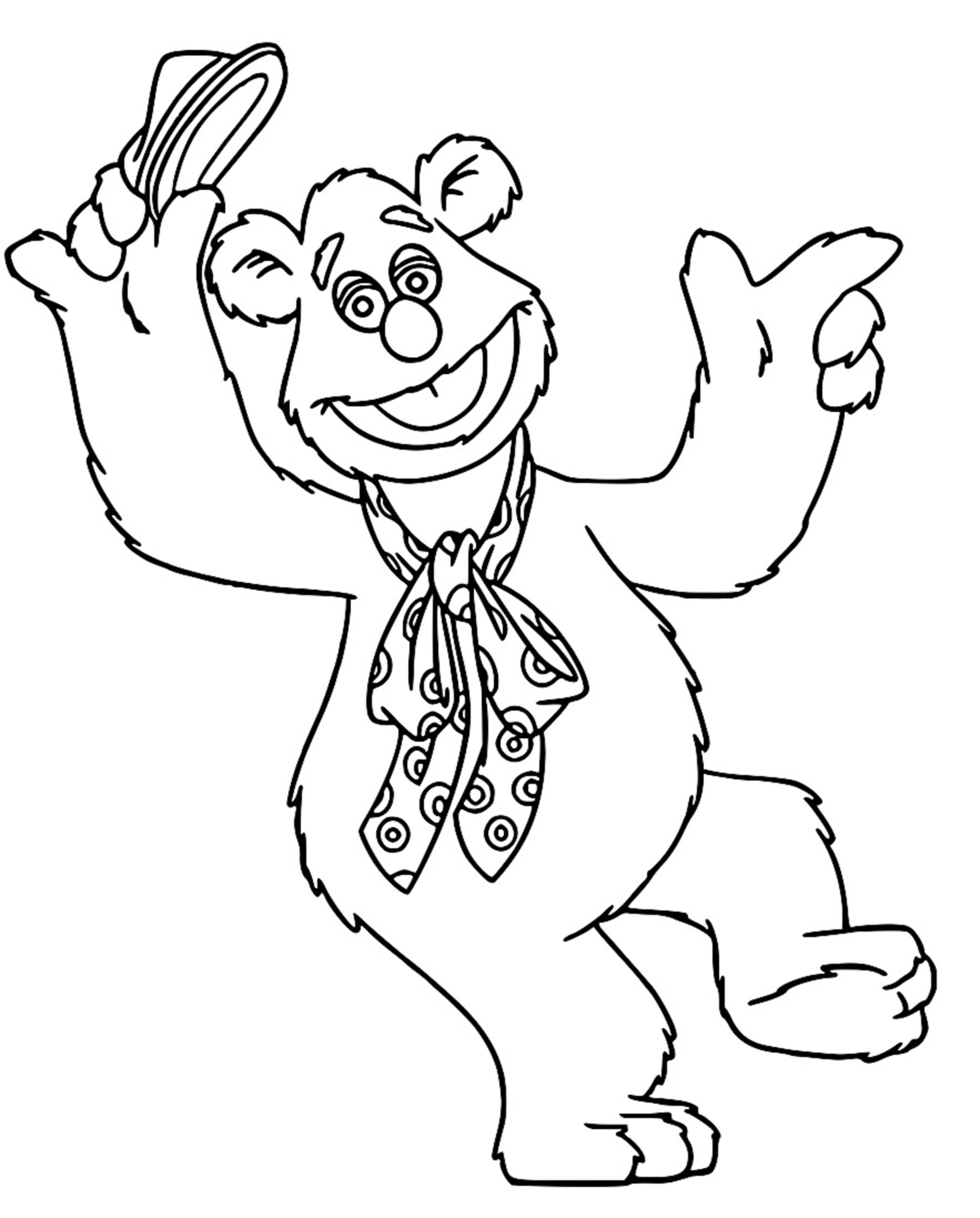 The Muppets fozzie bear Cartoon Coloring Page