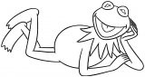 The Muppets kermit the frog 10 Cartoon Coloring Page