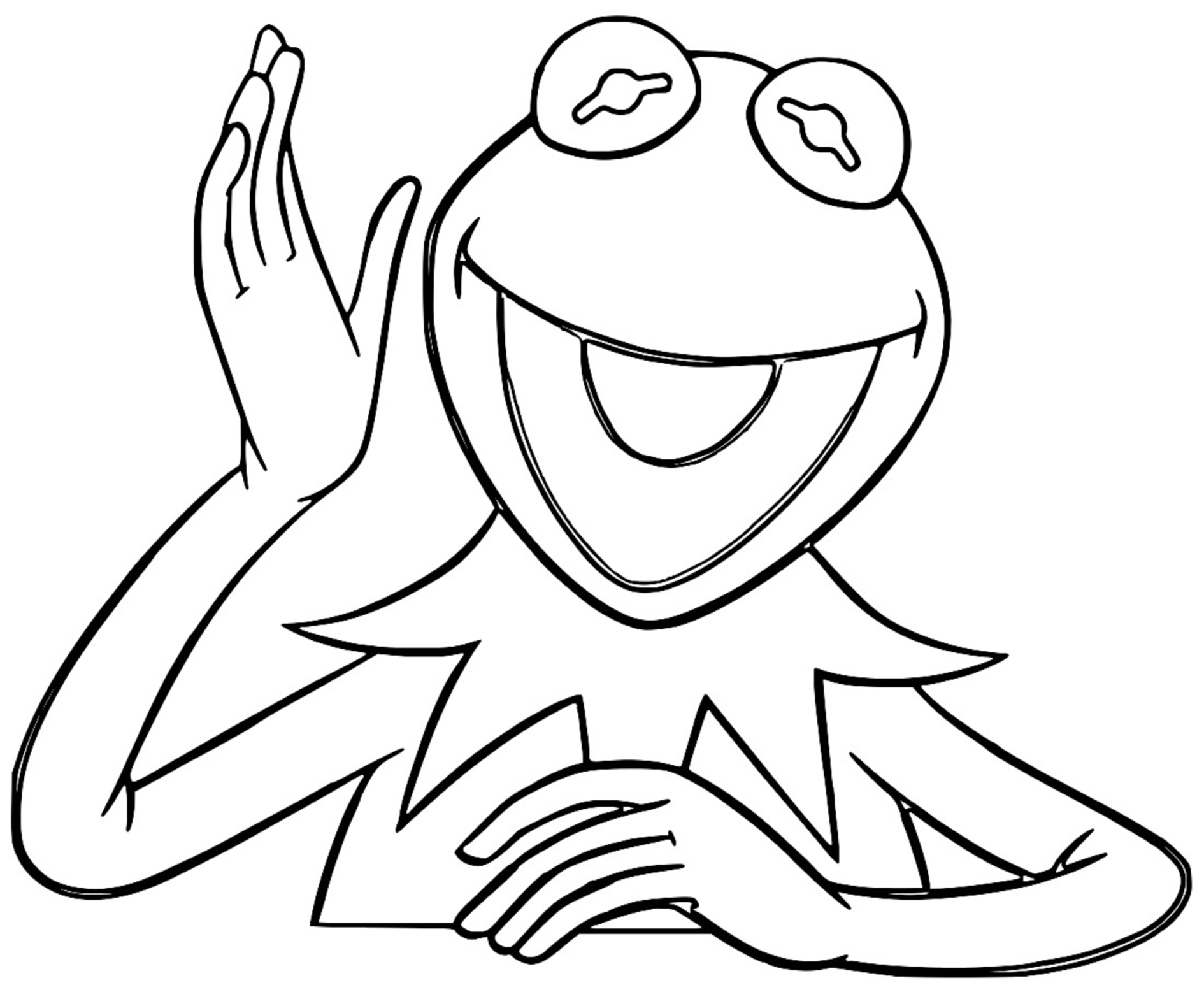 The Muppets kermit the frog 6 Cartoon Coloring Page