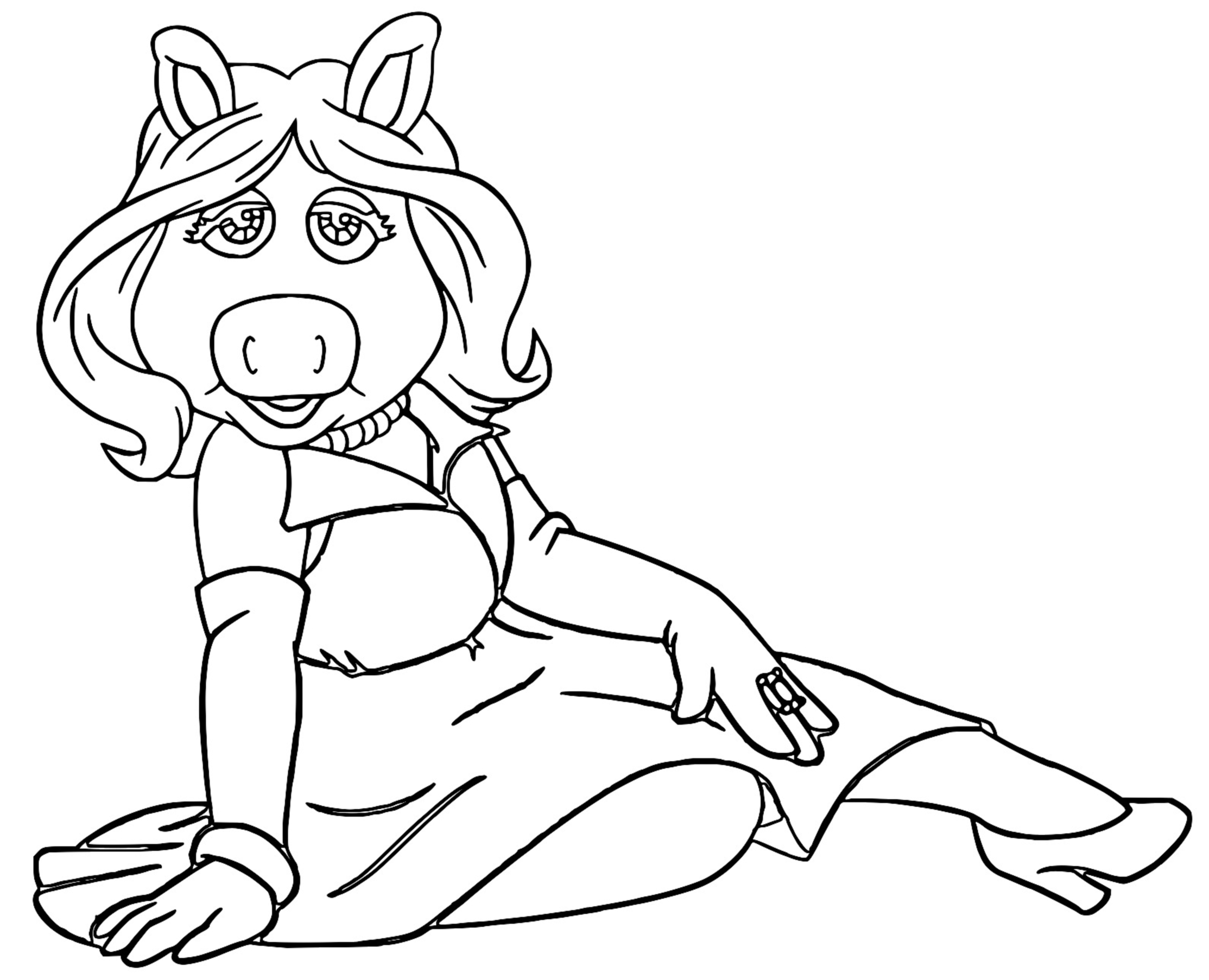 The Muppets miss piggy 2 Cartoon Coloring Page