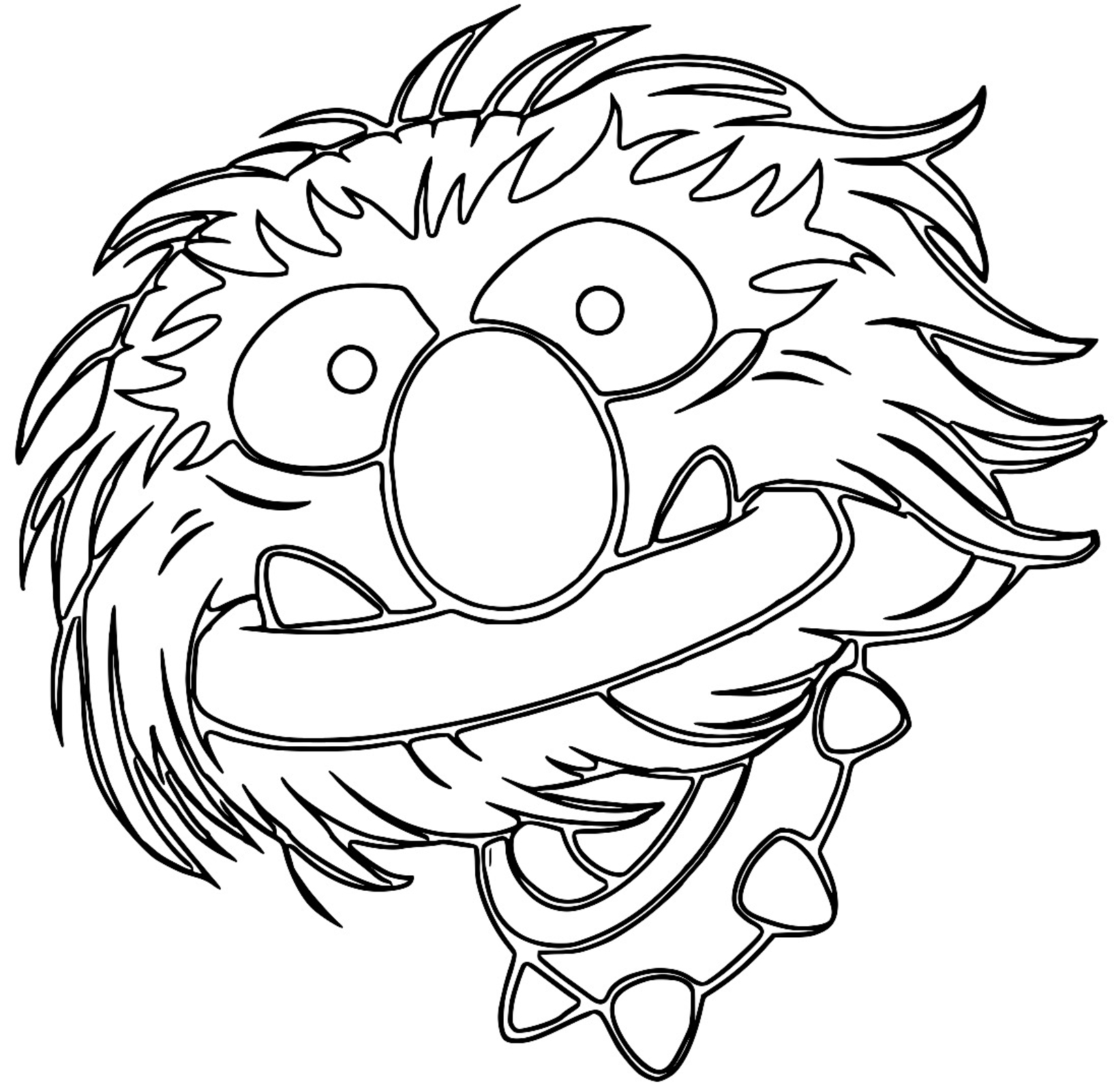 The Muppets muppets animal 2 Cartoon Coloring Page
