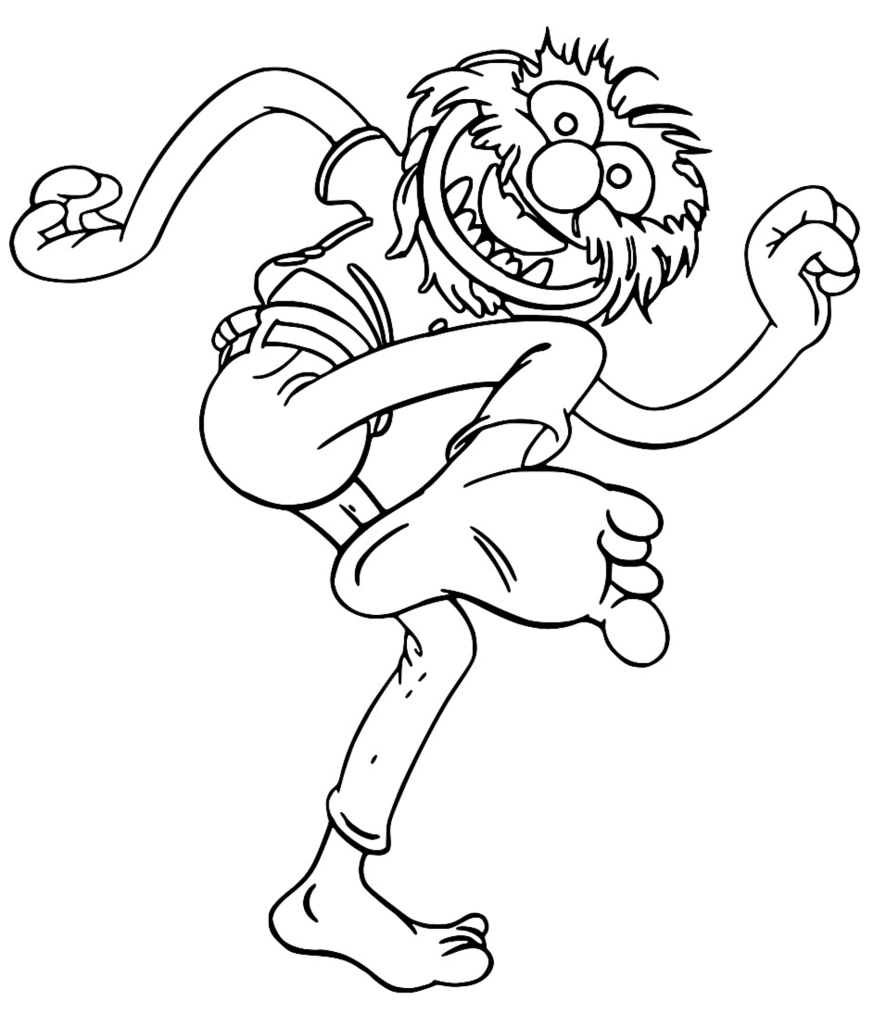 The Muppets muppets animal 3 Cartoon Coloring Page
