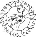 The Nightmare Before Christmas night 4 2 Cartoon Coloring Page