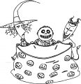 The Nightmare Before Christmas trick Cartoon Coloring Page