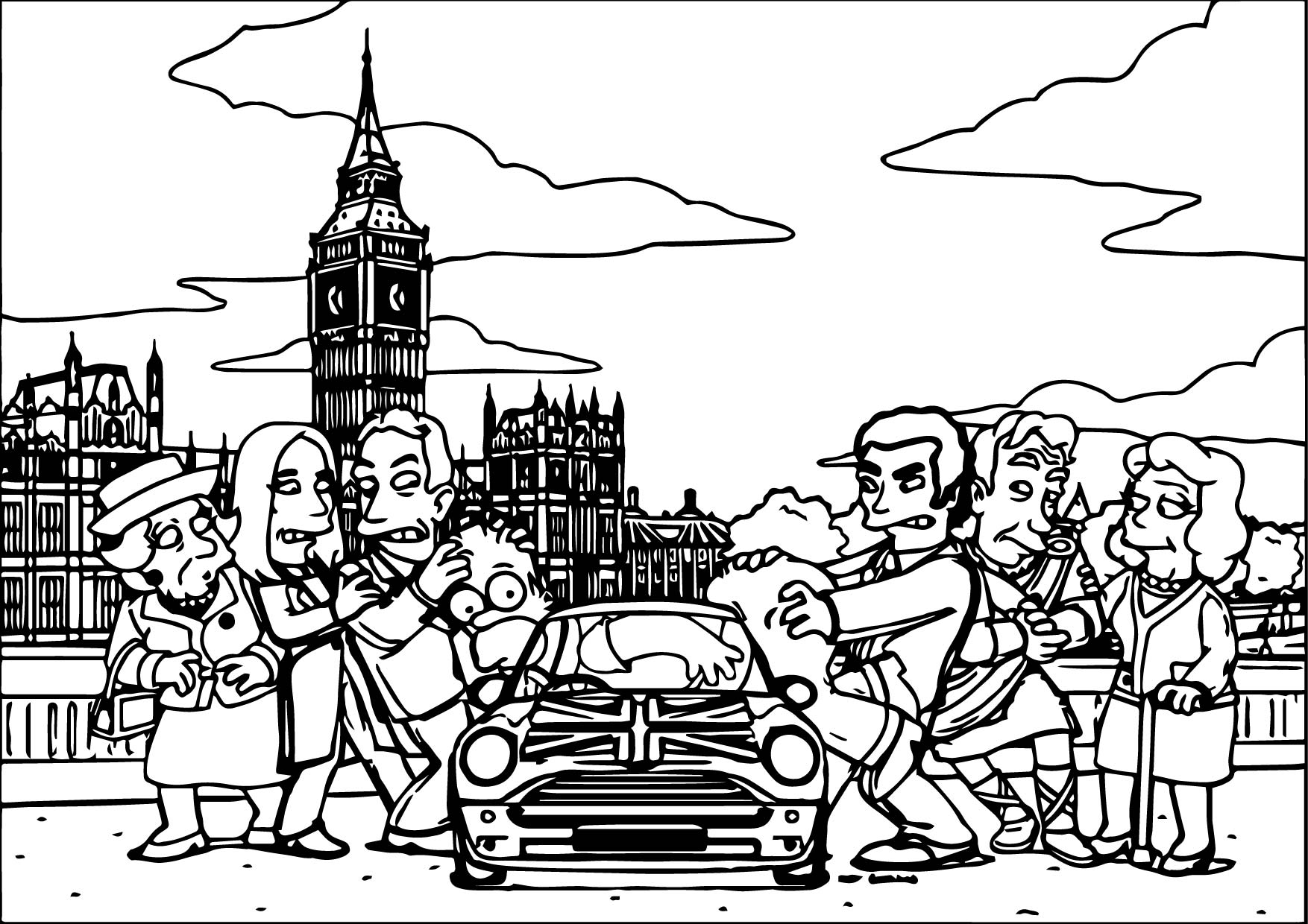 The Simpsons Coloring Page 100