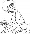 The Sword In The Stone Arthur Cleaning Up Cartoon Coloring Pages