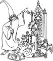 The Sword In The Stone King Arthur Staying Cartoon Coloring Pages