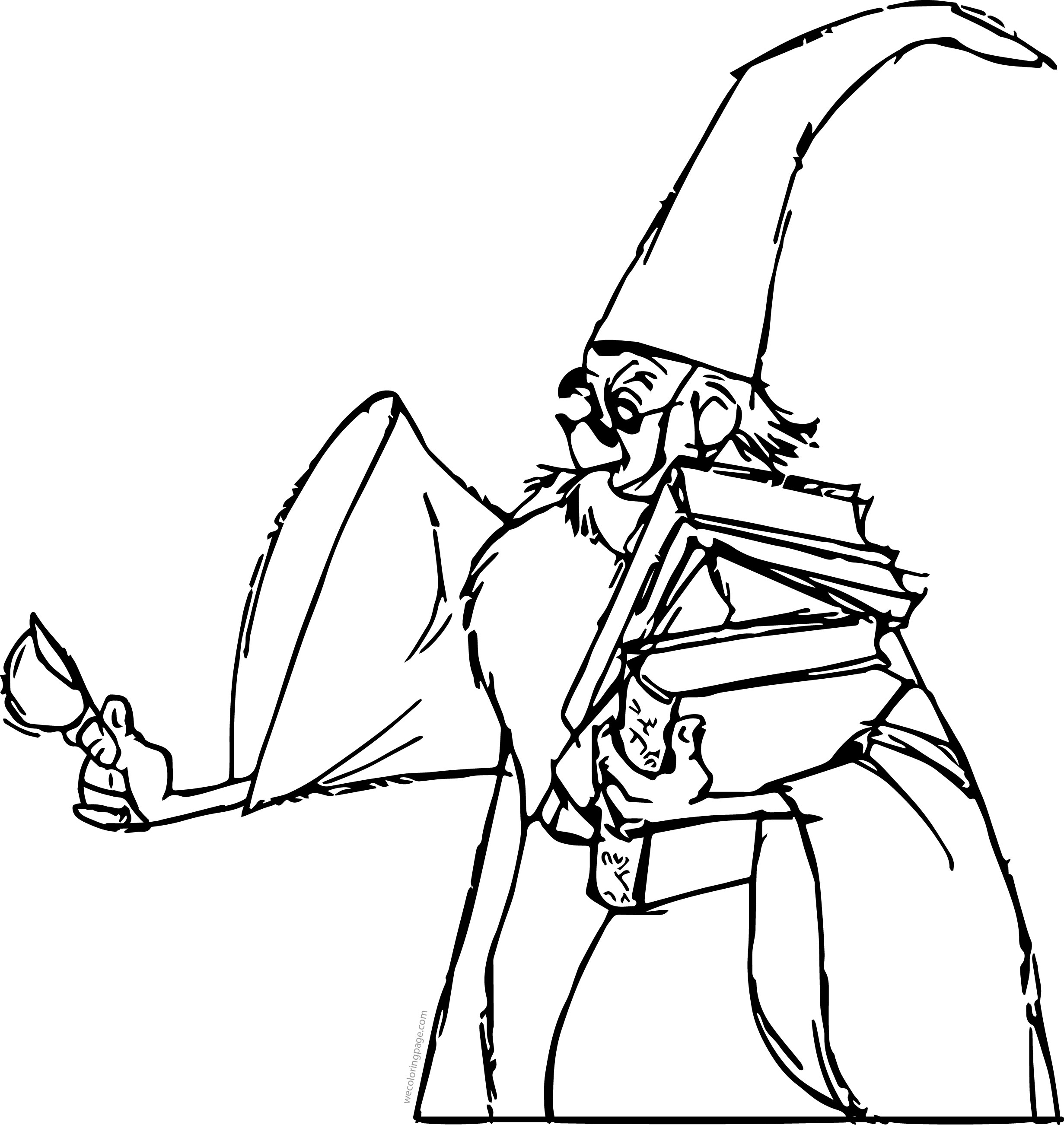 The Sword In The Stone Magician Merlin Sugar Cartoon Coloring Pages