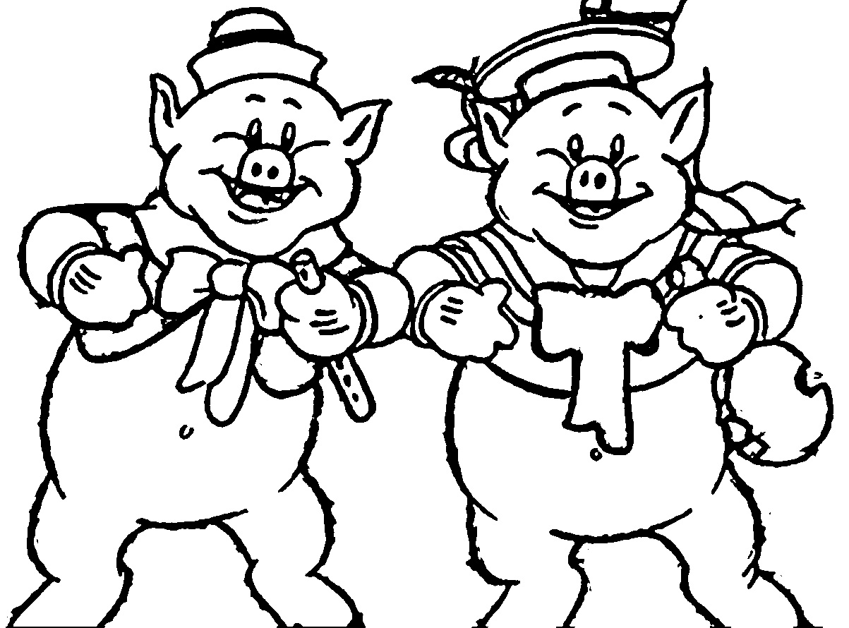 The Three Little Pigs Coloring Page_214145001