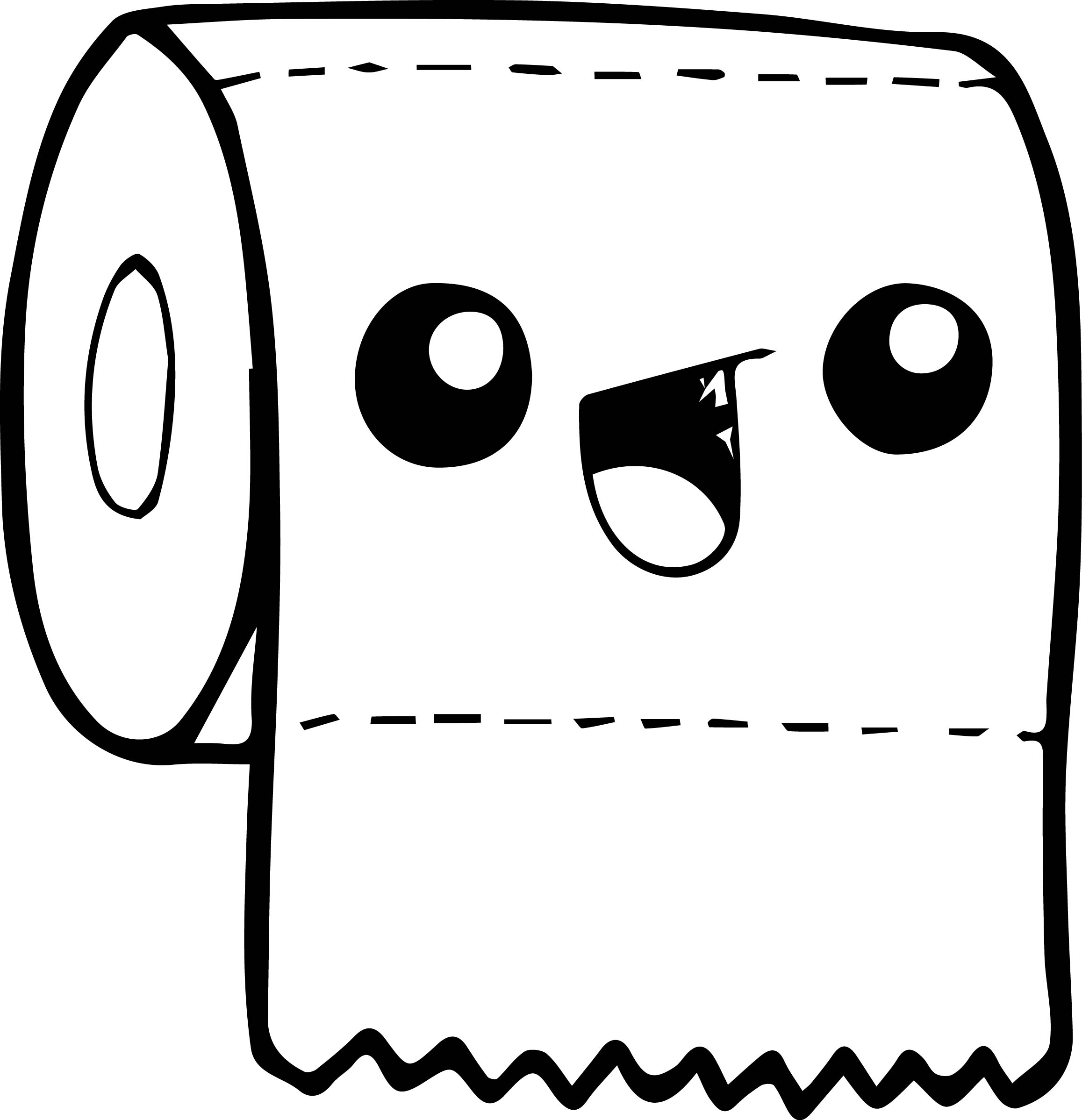 Toilet Paper Easy Draw Coloring Page
