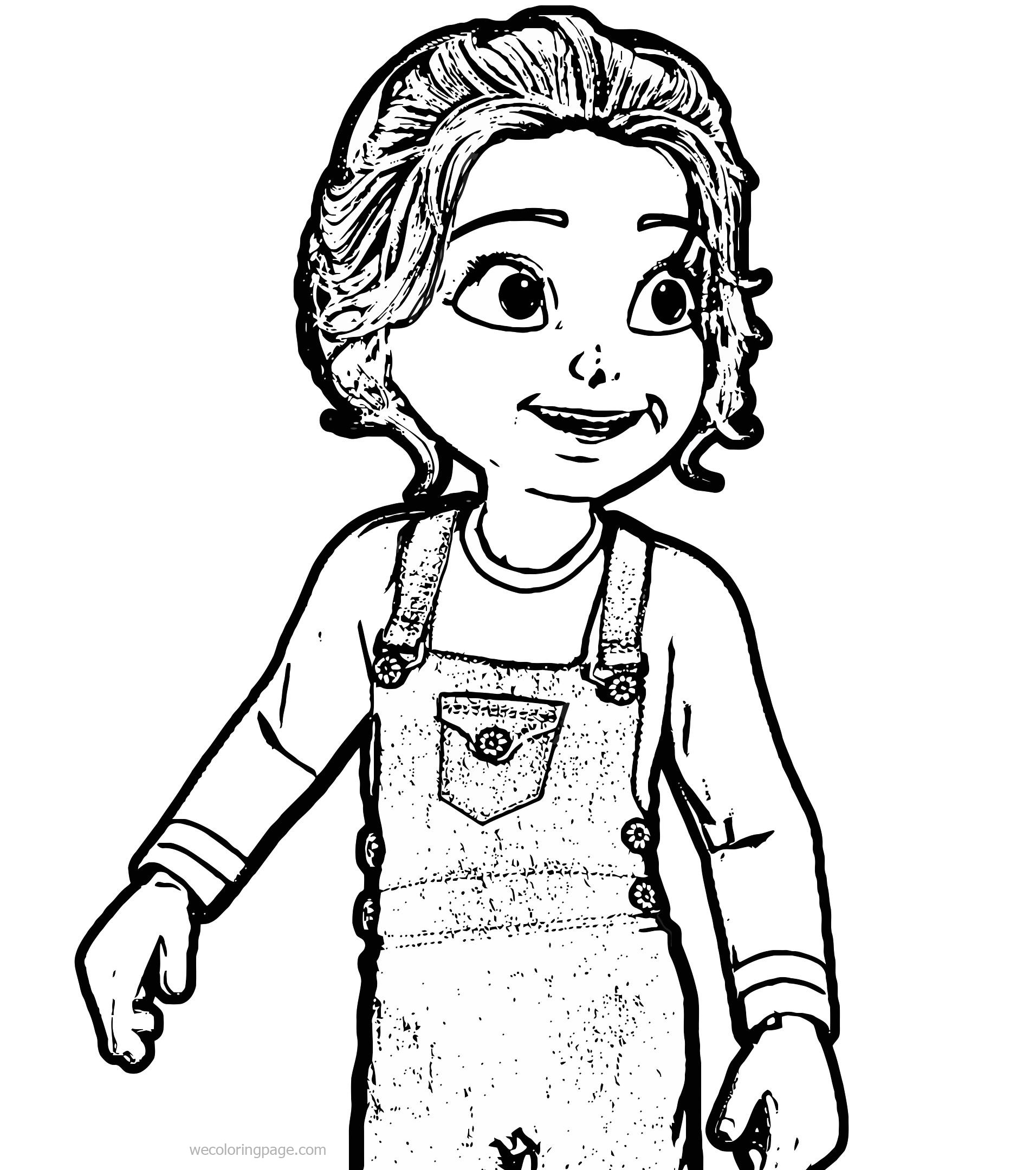 Toon Cute Girl Coloring Page