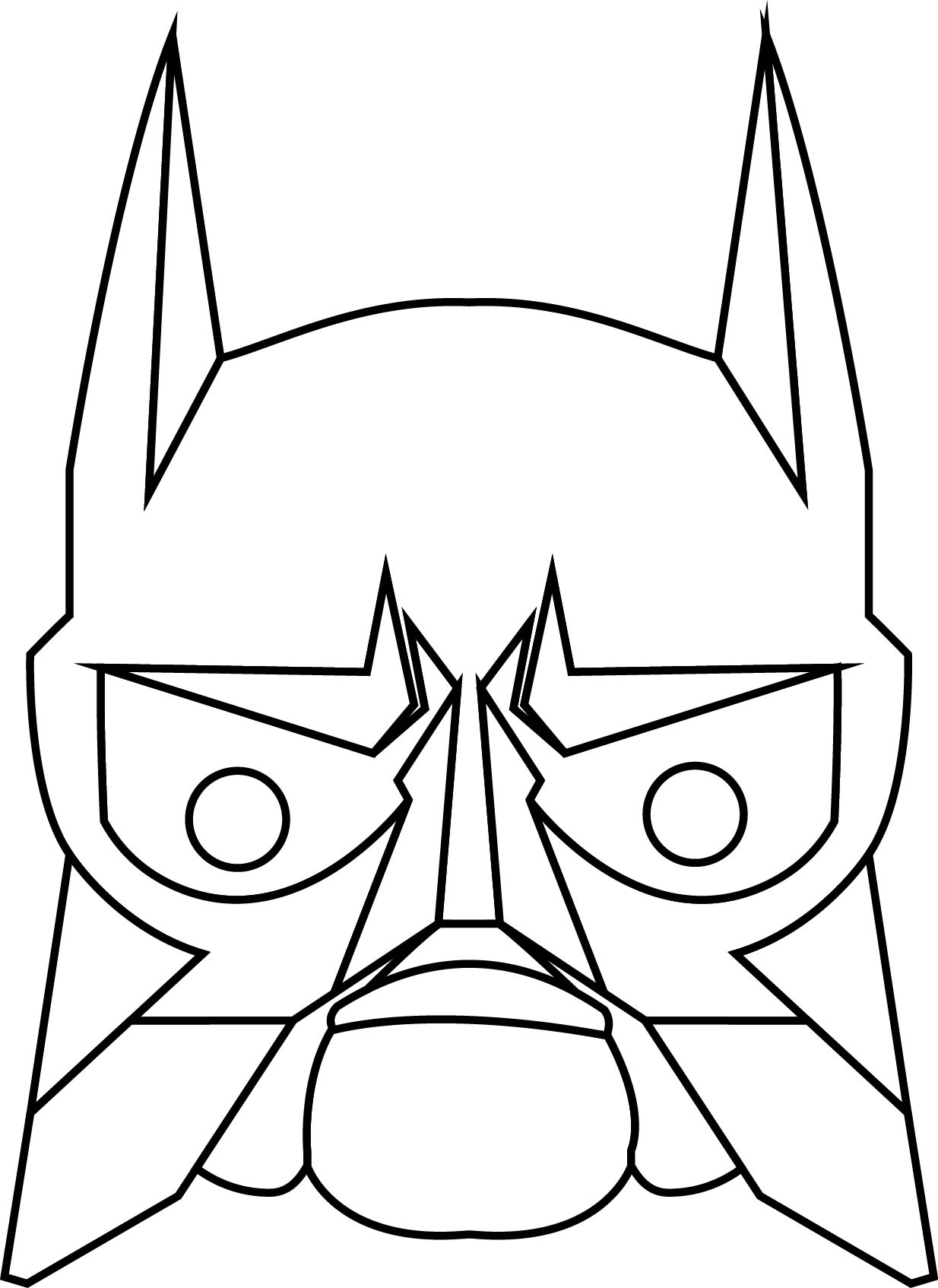 Transformers Face Heroes Coloring Page Robot
