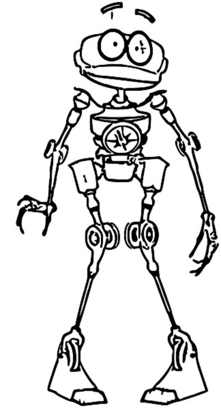 Treasure Planet Robot Coloring Pages_Cartoonized